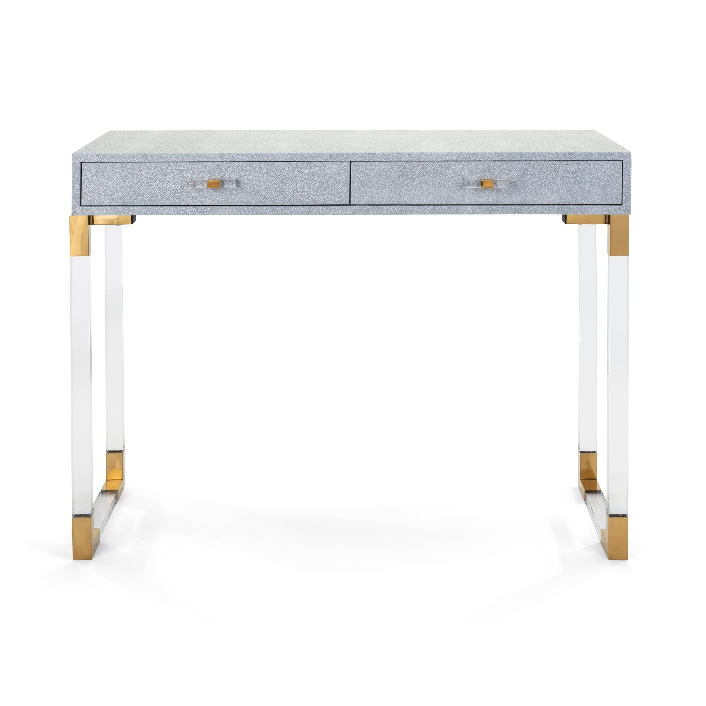 Misty Reen Gold And Clear Acrylic Console Table On Free Shipping Today 23557991