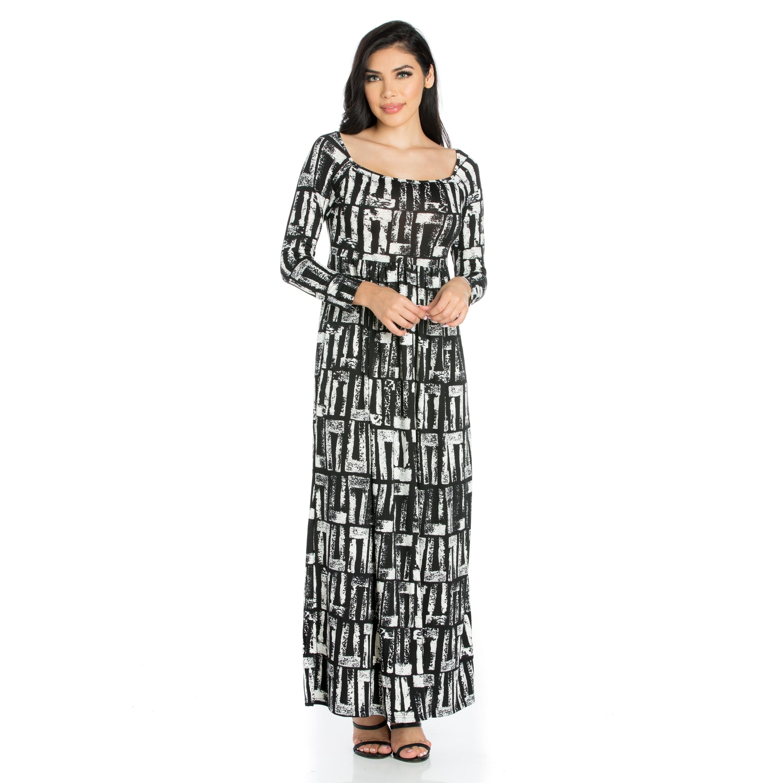 db67866084 White Long Sleeve Maxi Dress – DACC