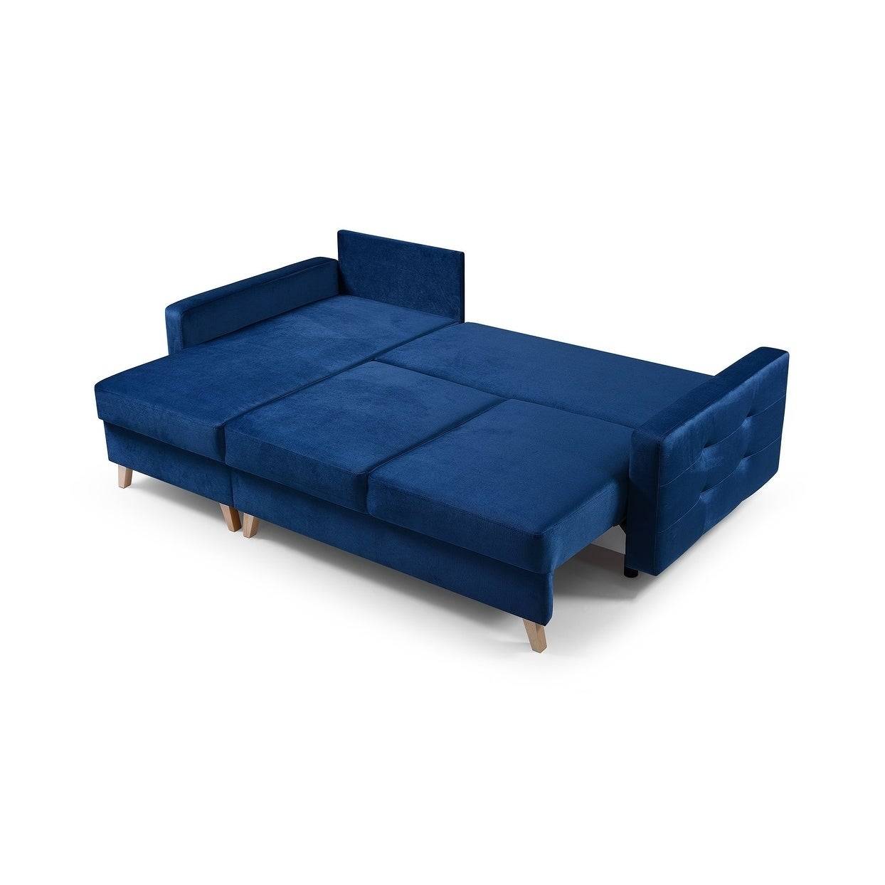 Vegas Futon Sectional Sofa Bed Queen Sleeper With Storage On Free Shipping Today Com 23558765