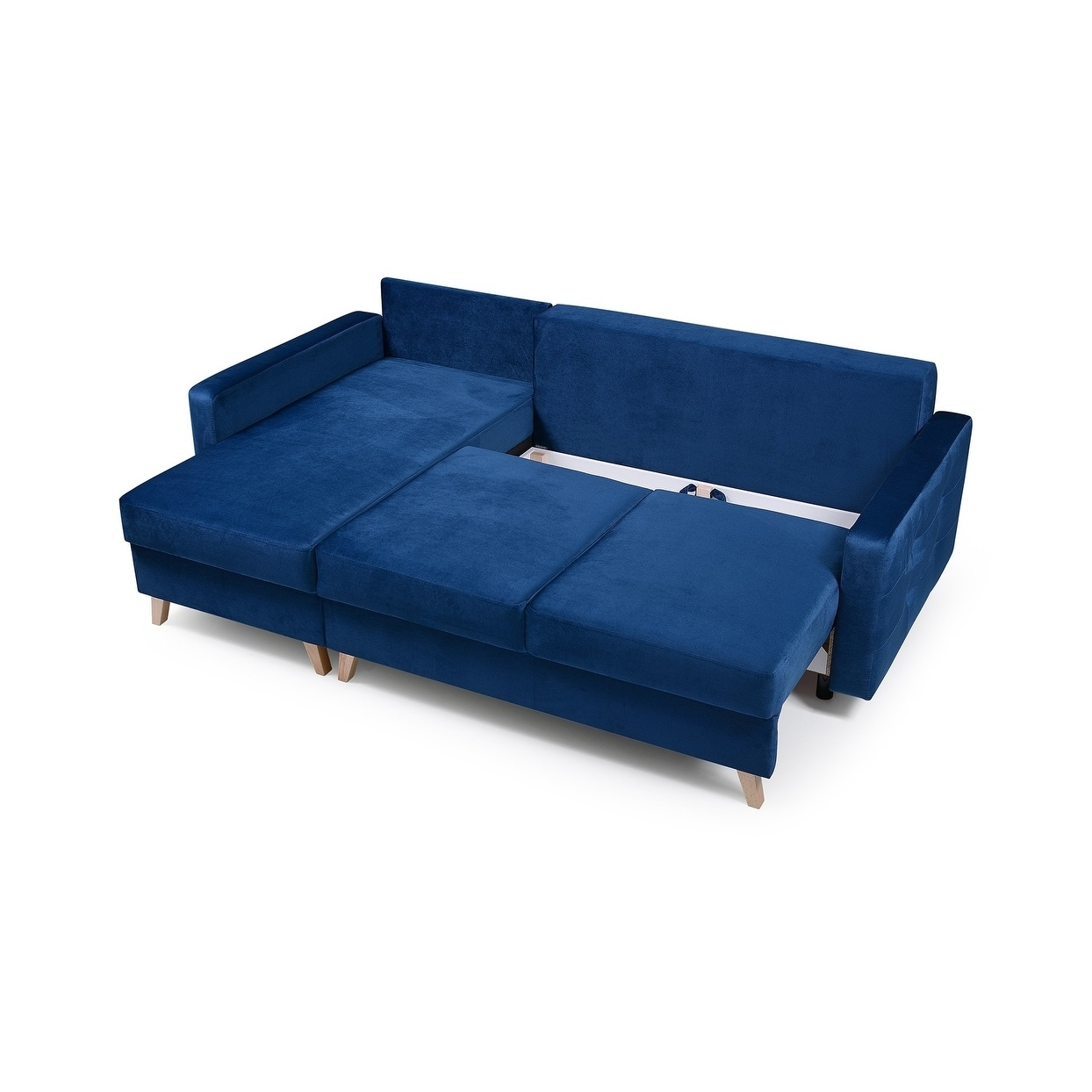 Vegas Futon Sectional Sofa Bed Queen Sleeper With Storage Ships To Canada 23558765