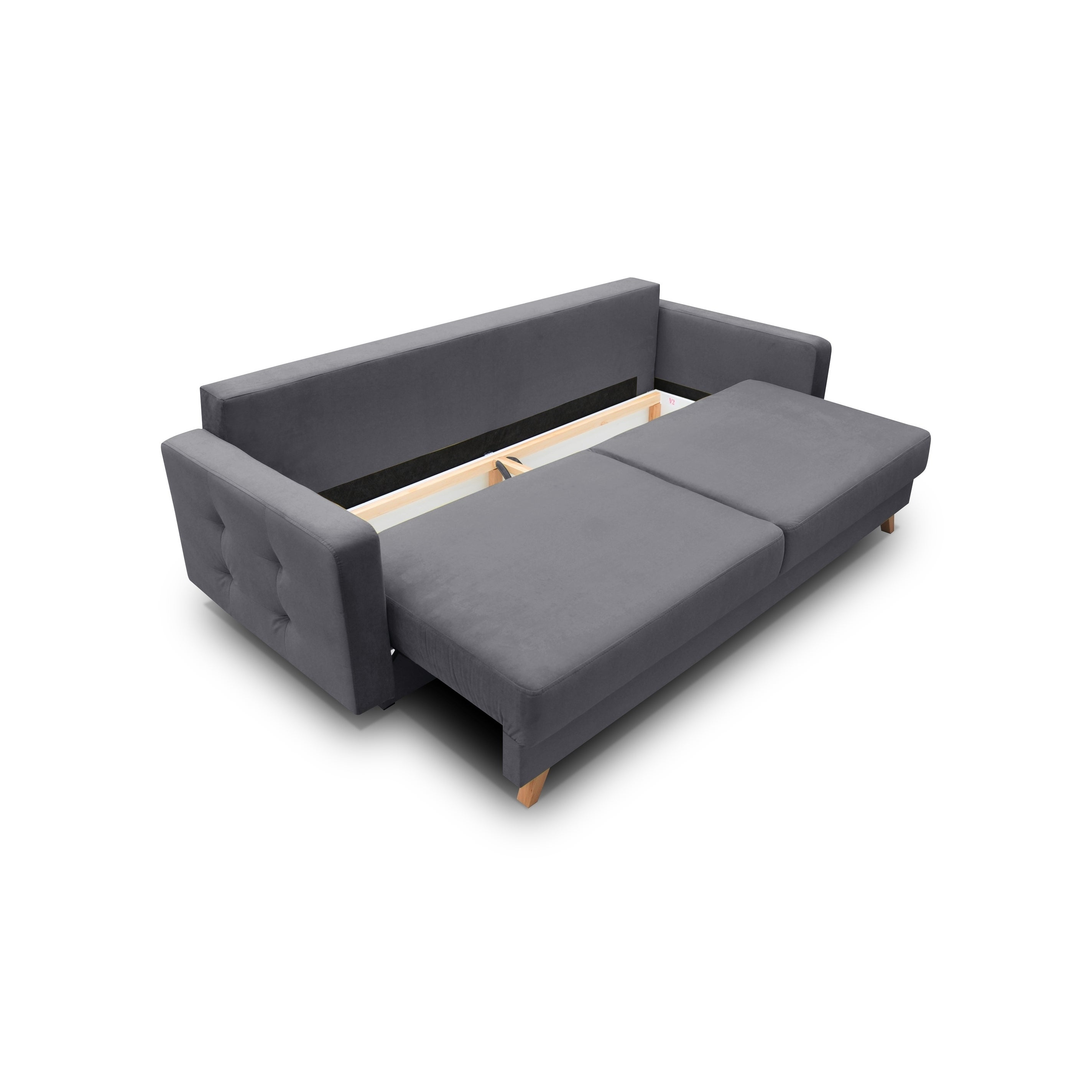 Vegas Futon Sofa Bed Queen Sleeper With Storage On Free Shipping Today 23558817