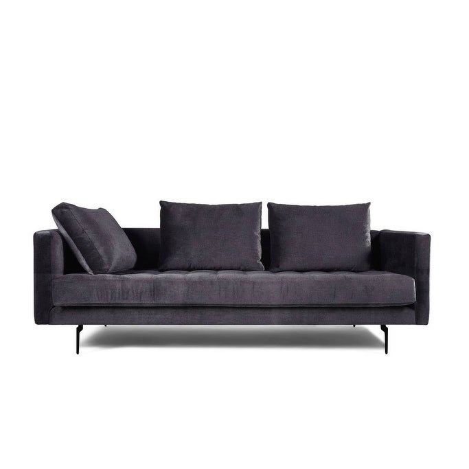 Shop Granville 3-Seat Velvet Tufted Sofa - On Sale - Free Shipping ...