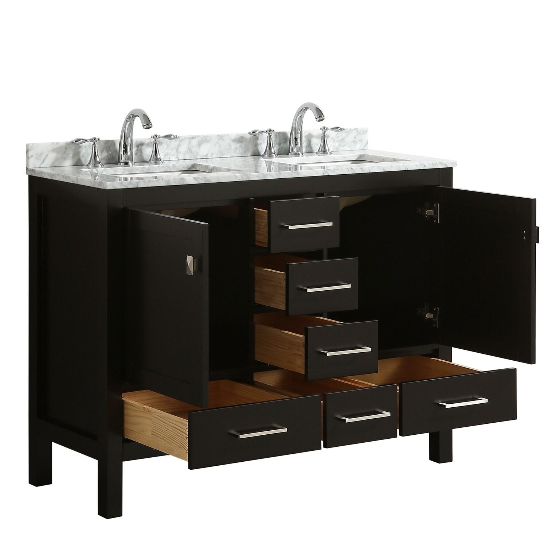 Eviva London 48 X 18 Espresso Bathroom Vanity Free Shipping Today 23565157