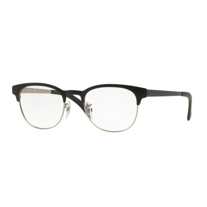 a90055fa6f Shop Ray-Ban RX6317 Unisex Top Black On Matte Silver Eyeglasses - top black  on matte silver - Ships To Canada - Overstock.ca - 23566076