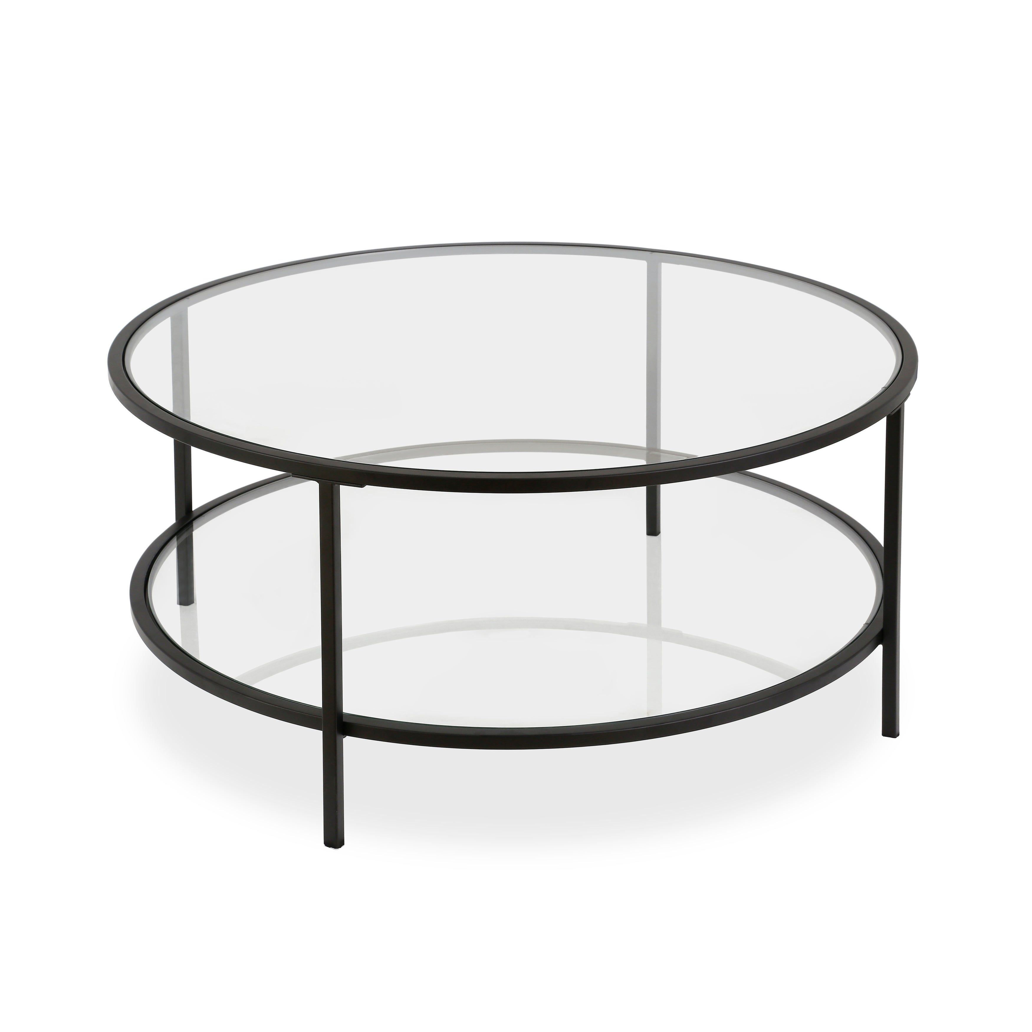 Shop Orwell Blackened Bronze Steel And Glass 1 Shelf Coffee Table   On Sale    Free Shipping Today   Overstock   23566427