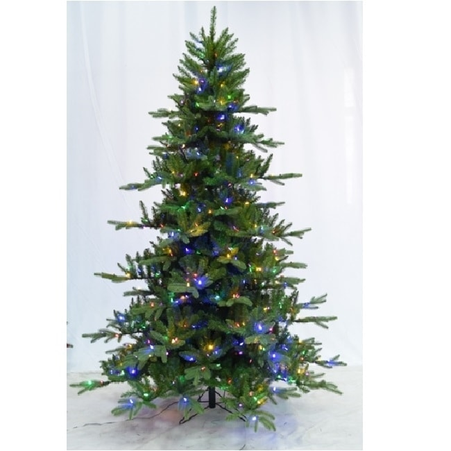 6 5 Foot Pre Lit Led Instant Connect Noble Fir Artificial Christmas Tree