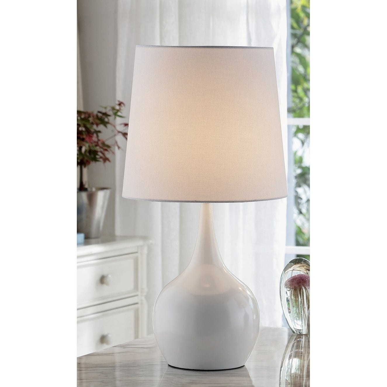 Shop Niyor Mid Century Modern Touch Metal Table Lamp On Sale