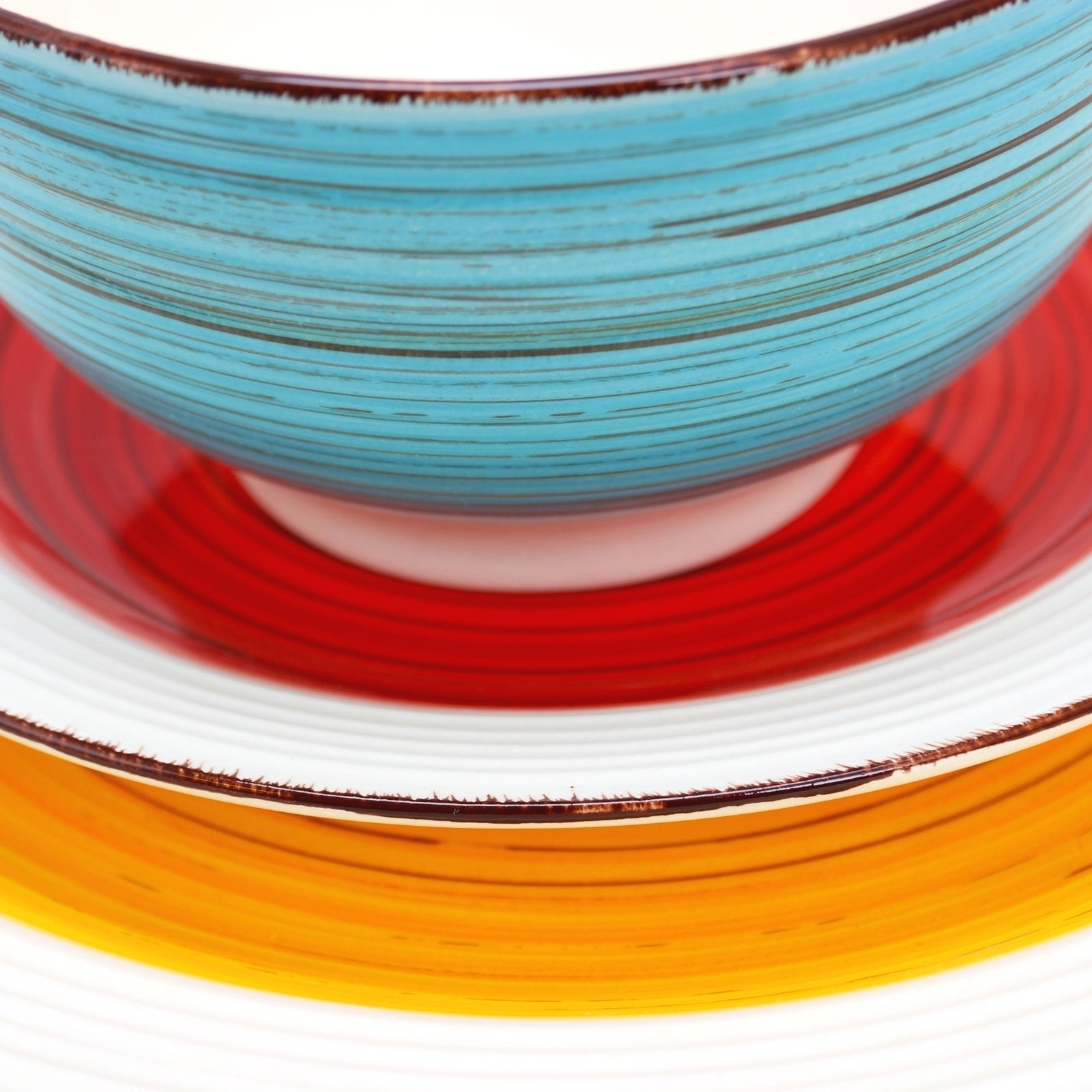 Shop Gibson Home Confetti Band 12 Piece Mix Match Dinnerware Set Electrical Wiring Book Urdu Free Shipping Today 23585963