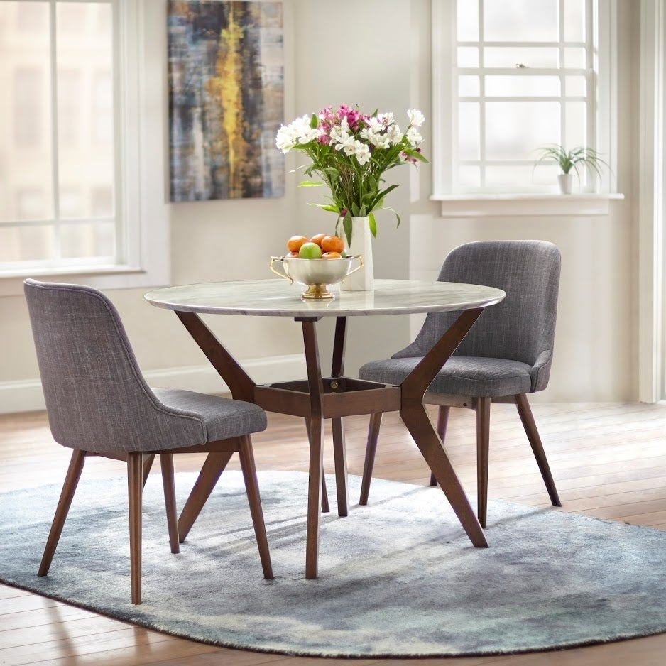 0d491aff8f66 Shop Carson Carrington Tornio 42-inch Round Dining Table - Brown White - On  Sale - Free Shipping Today - Overstock - 23589479