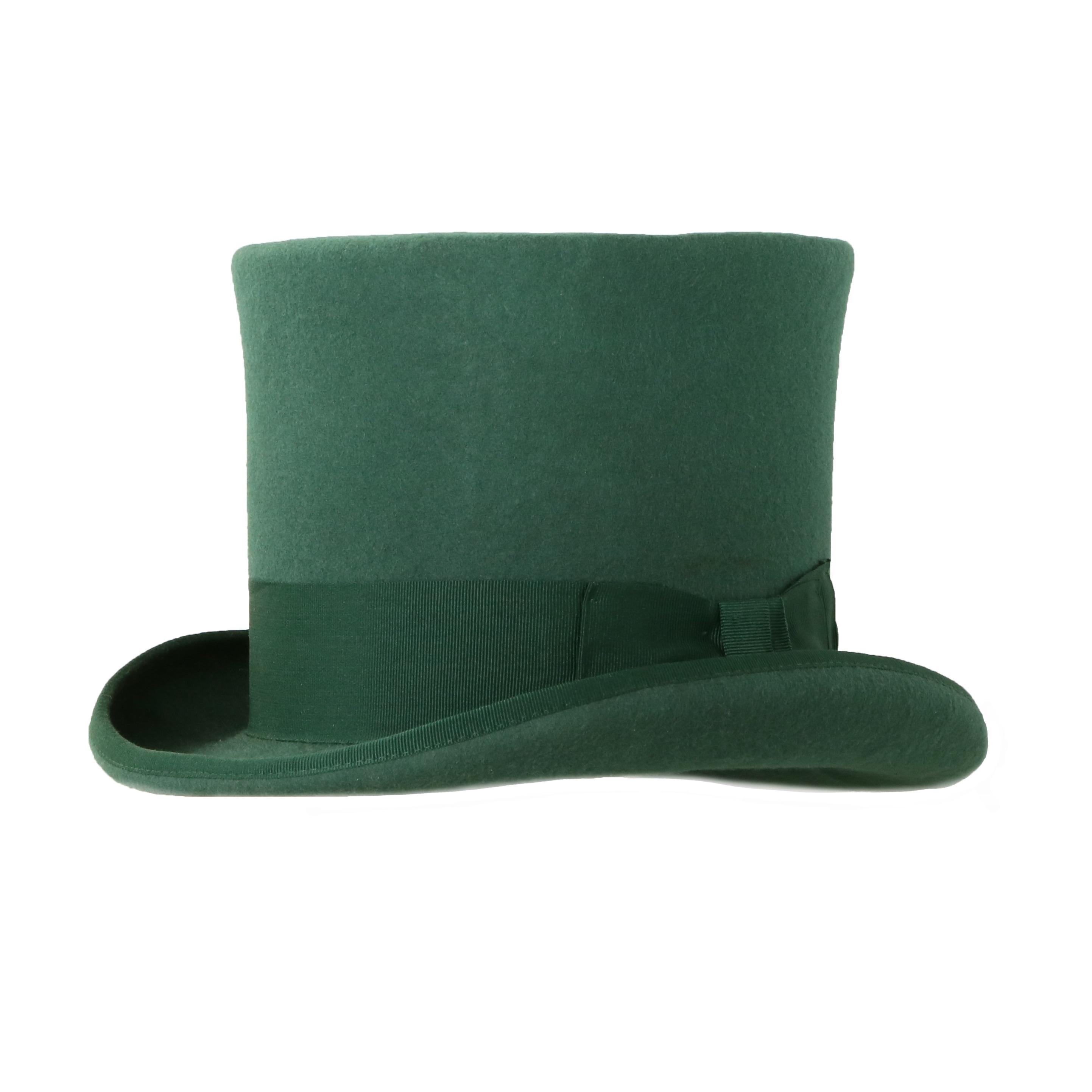Vaak Shop Ferrecci Mens Hunter Green Premium Wool Mad Hatter Steampunk @RR52