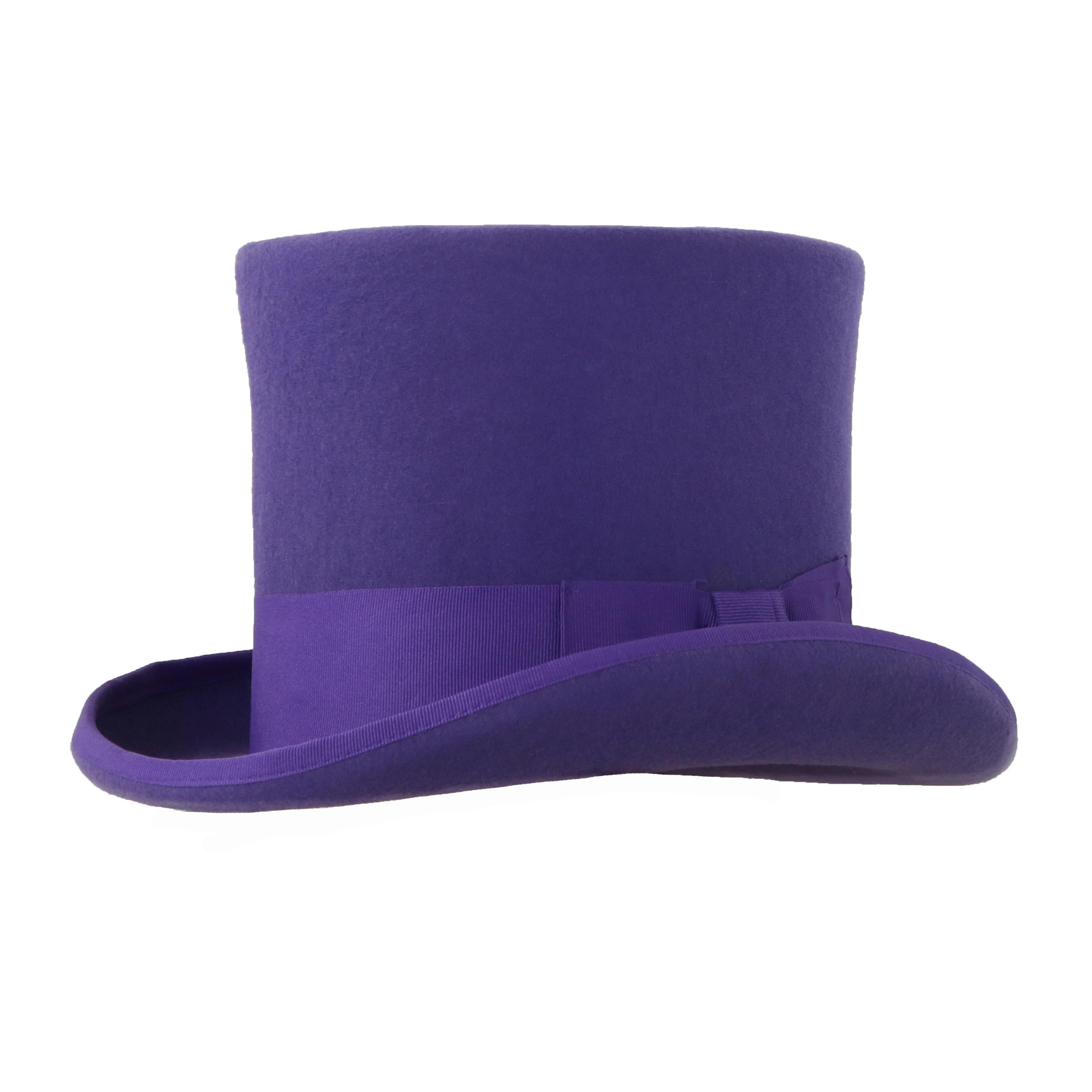 Shop Ferrecci Mens Ultra Violet Premium Wool Mad Hatter Steampunk ... 653915903e9