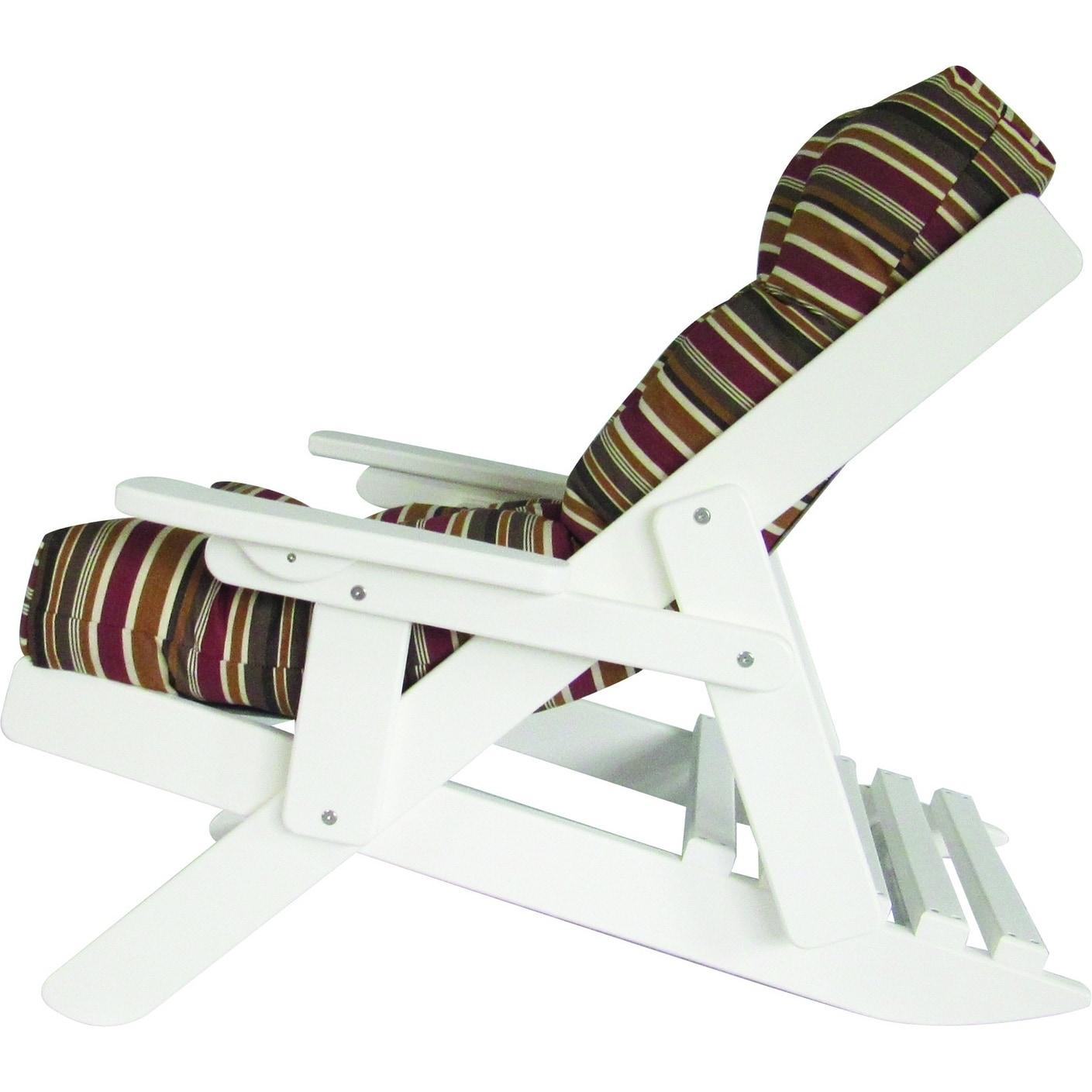 Shop White Poly Lumber Adirondack Siesta Chair With Cushion Free
