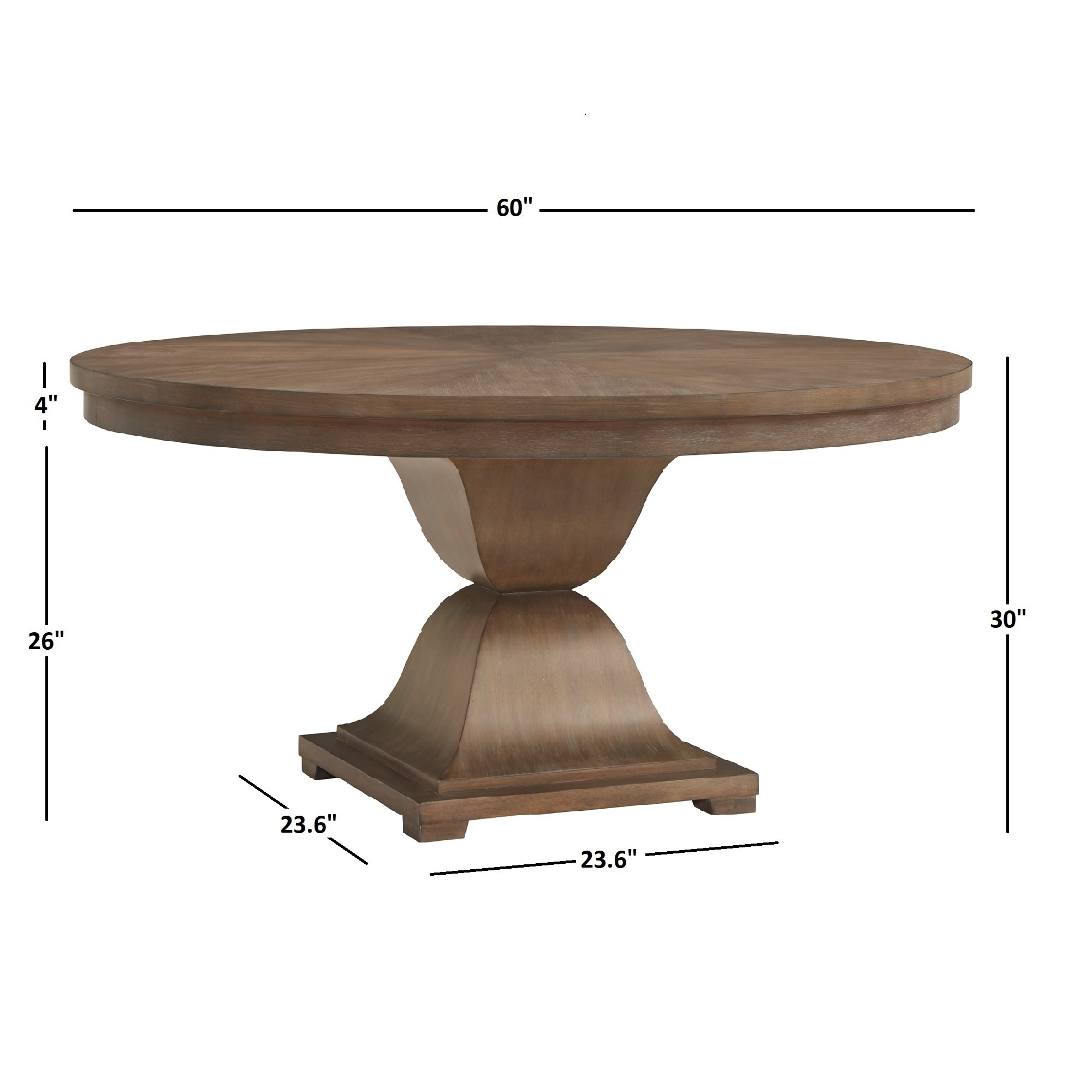 Shop monaco scratch resistant 60 inch round wood dining table by inspire q artisan free shipping today overstock com 23591074