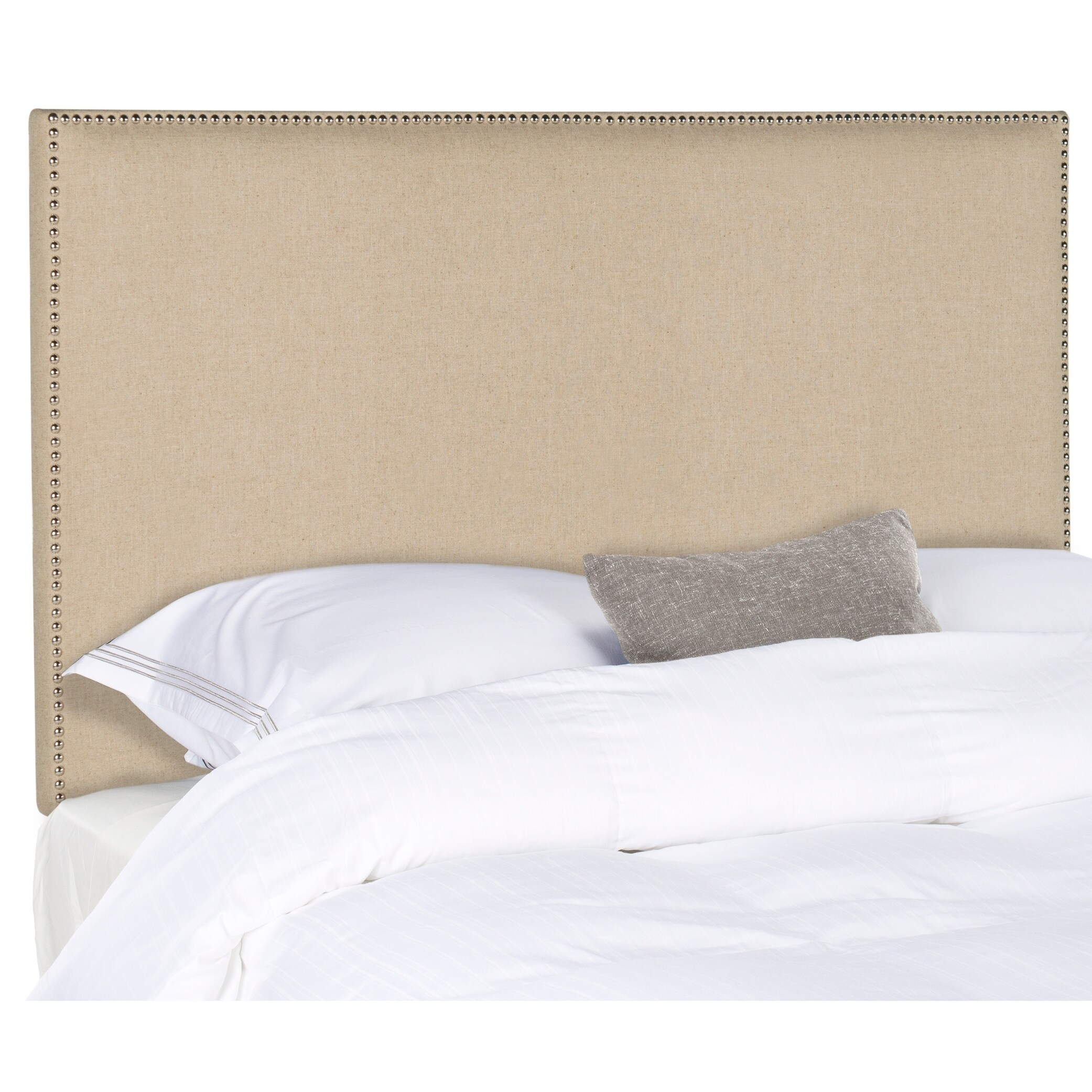 Shop Safavieh Sydney Hemp Silver Nail Head Queen Headboard