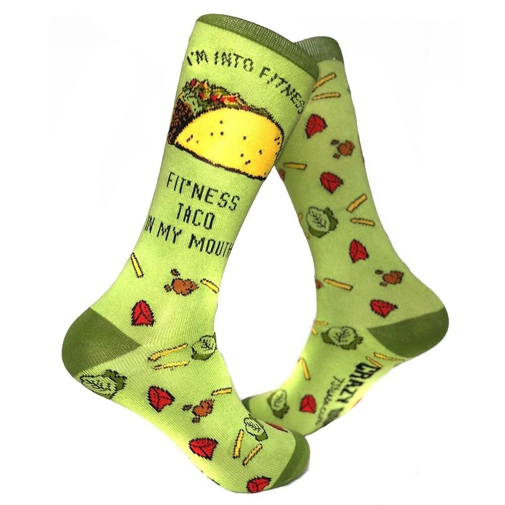 4acf19c46cf8f Women's Fitness Taco Sock Funny Cute And Humorous Casual Footwear
