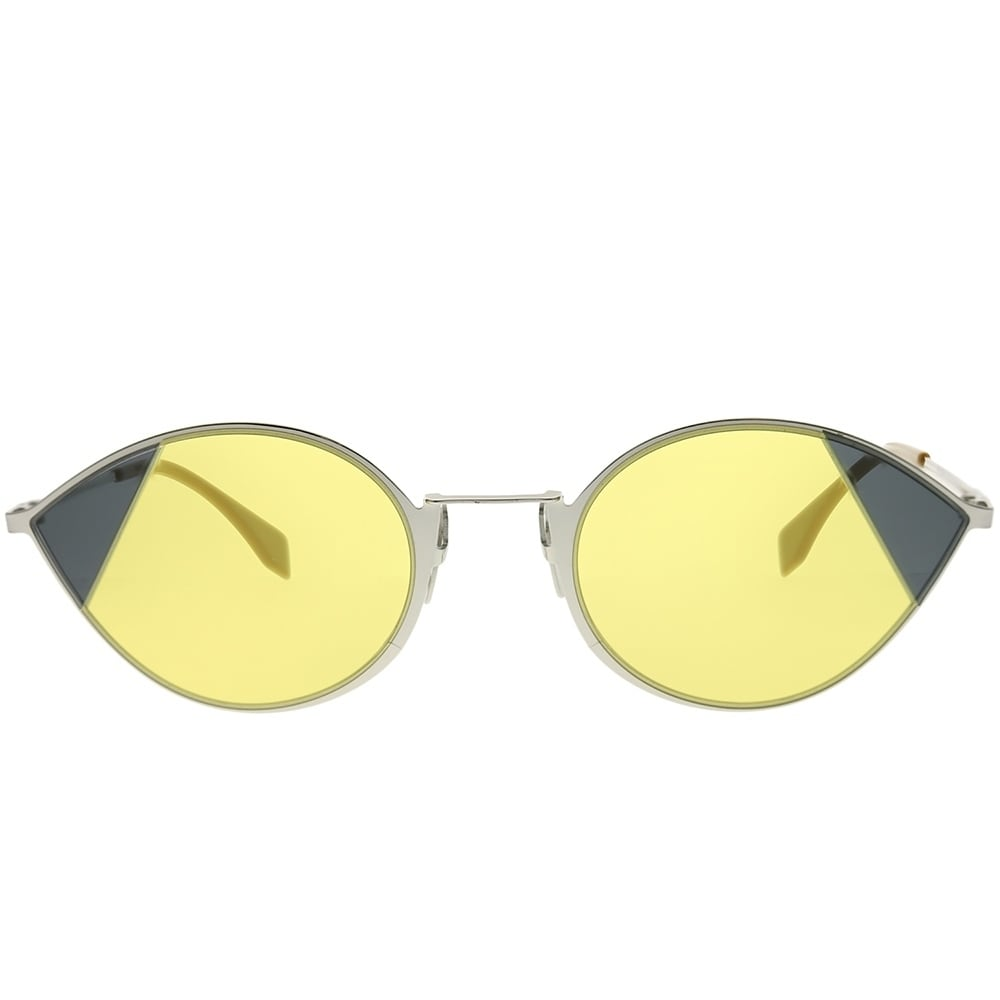 c9a7af86dad5 Shop Fendi Cat-Eye FF 0342 S Cut-Eye B1Z HO Women Silver Gold Frame Yellow  Lens Sunglasses - Free Shipping Today - Overstock - 23602824