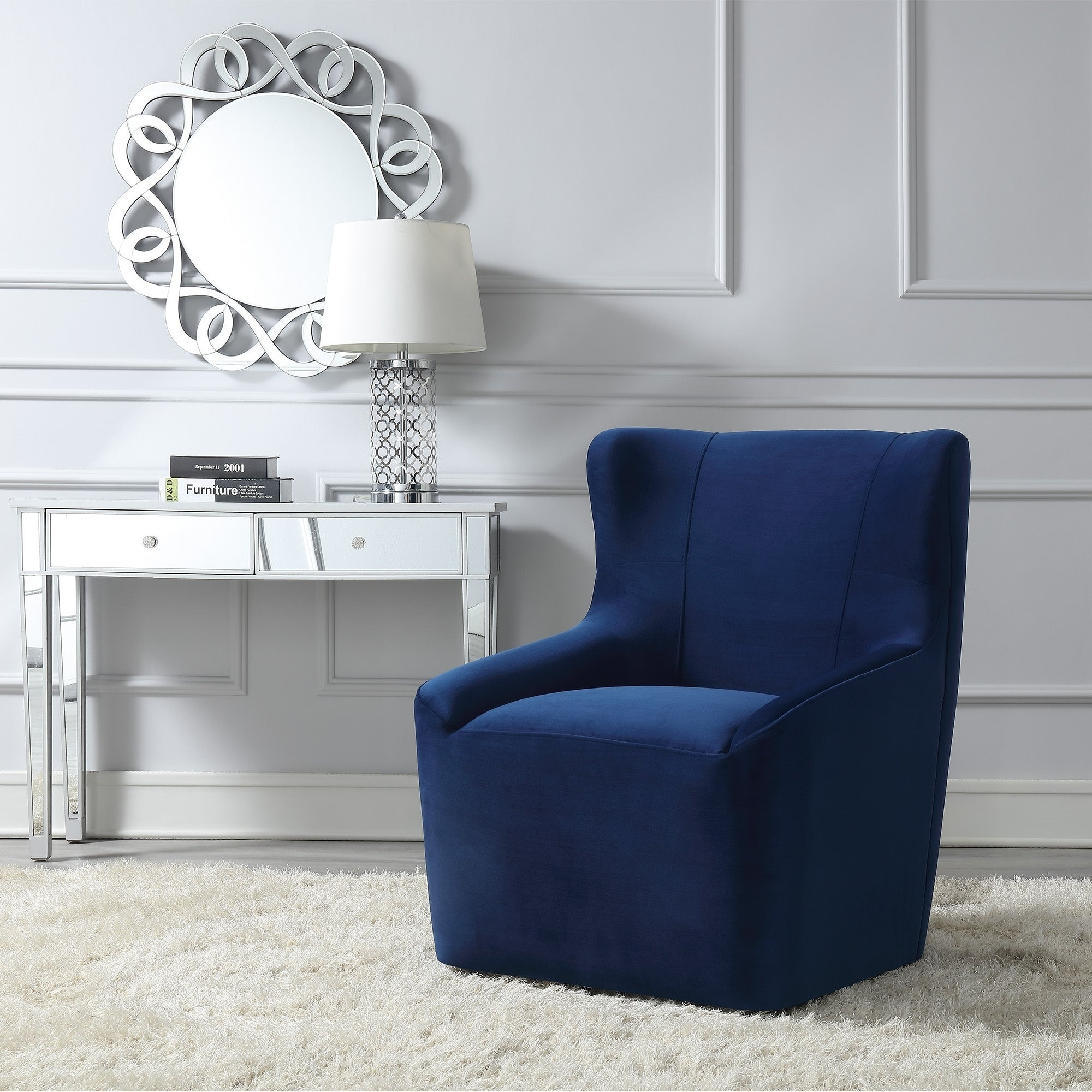 Shop Picket House Furnishings Misha Swivel Accent Chair - Overstock -  23607555