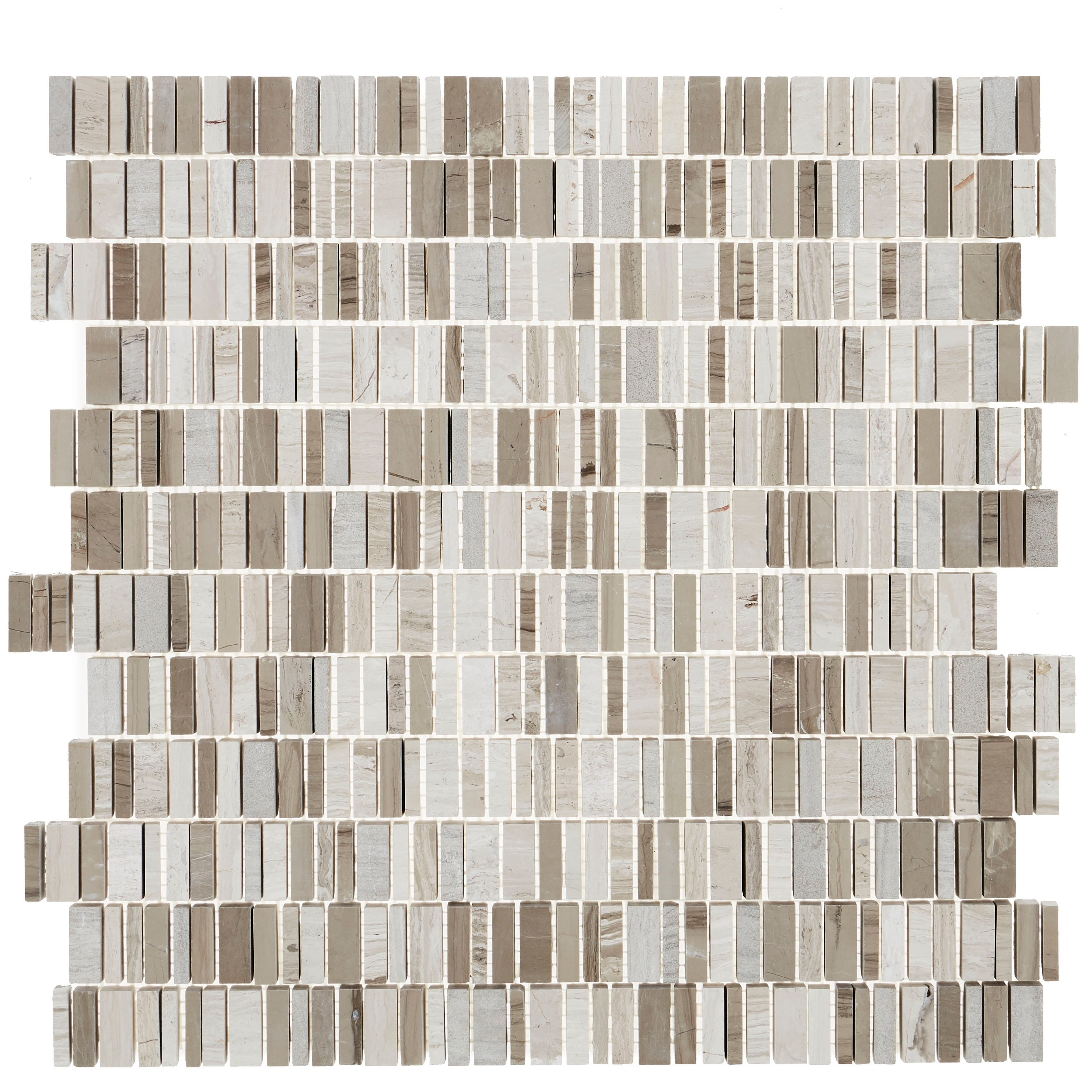 Natural Stone Marble 3 8xrandom Mosaic First Snow Elegance 12 125 X 13 5 Free Shipping On Orders Over 45 23608071