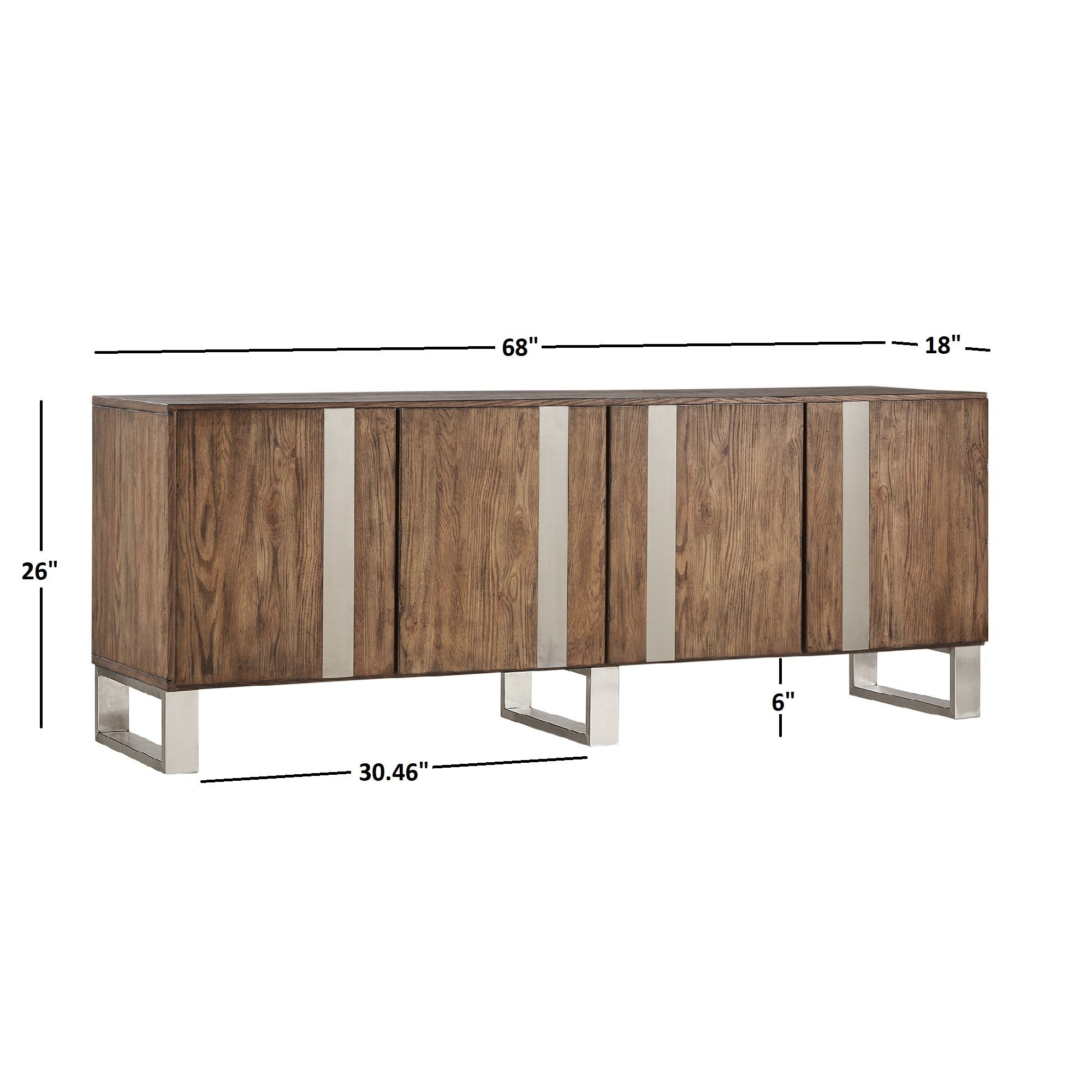Nadine Wood And Stainless Steel Tv Console Server By Inspire Q On Free Shipping Today 23608484