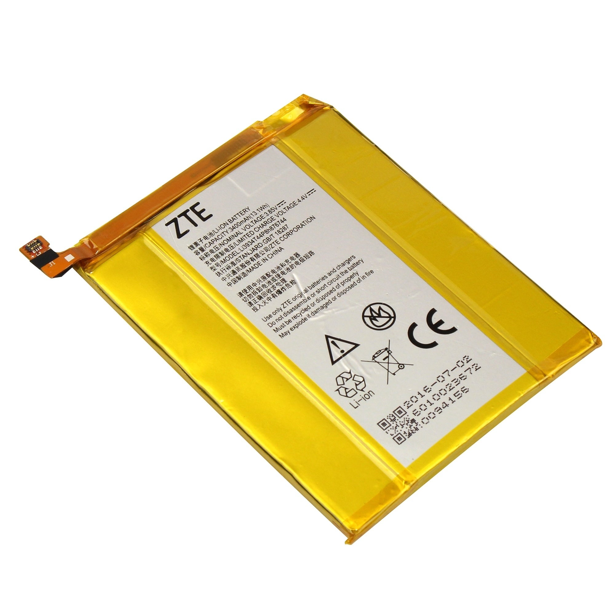 ZTE OEM Standard Battery LI3934T44P8H876744 for ZTE Grand X Max 2 (Bulk  Packaging)