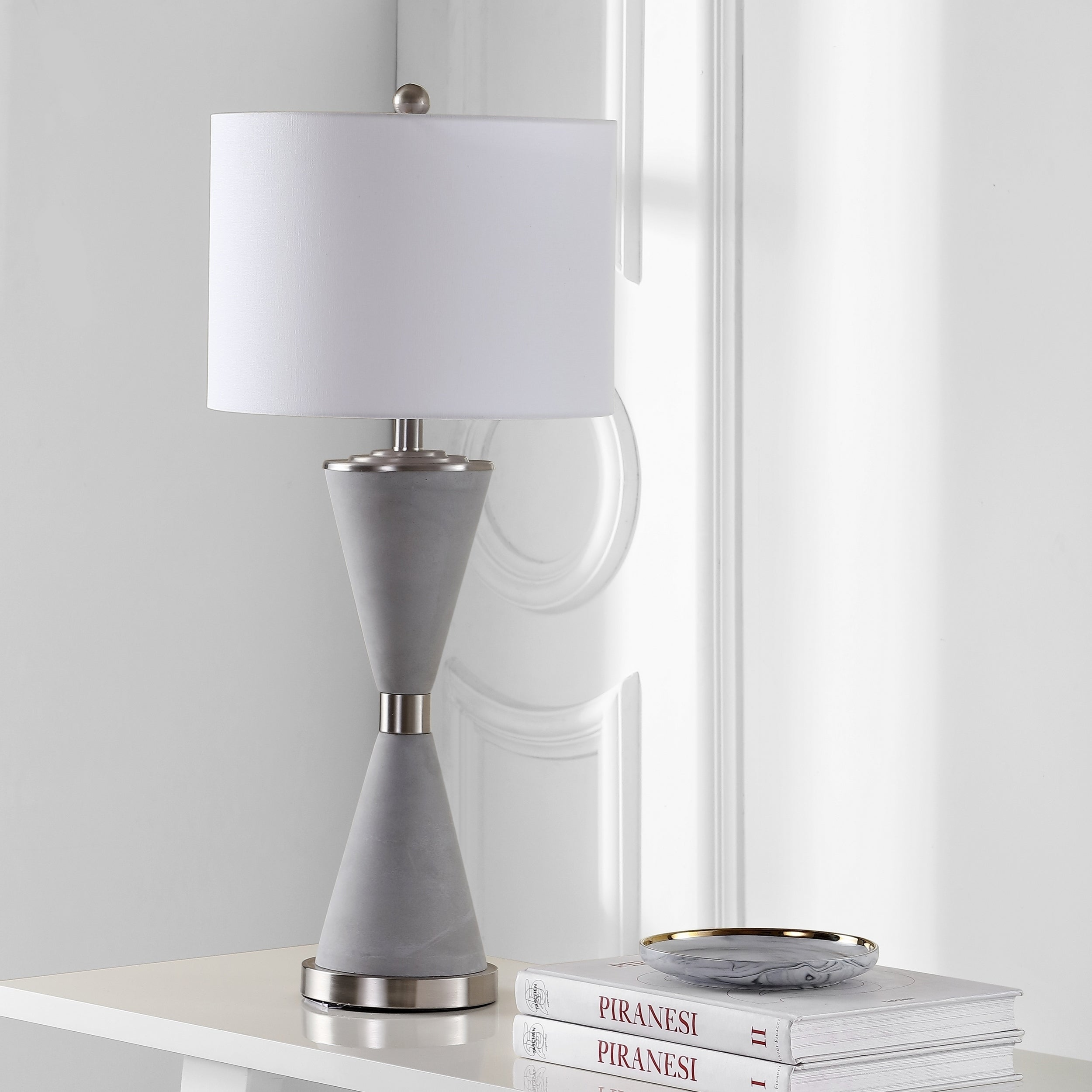 Shop Safavieh Lighting Carressa Table Lamp 31 Inch Grey 14 X 14