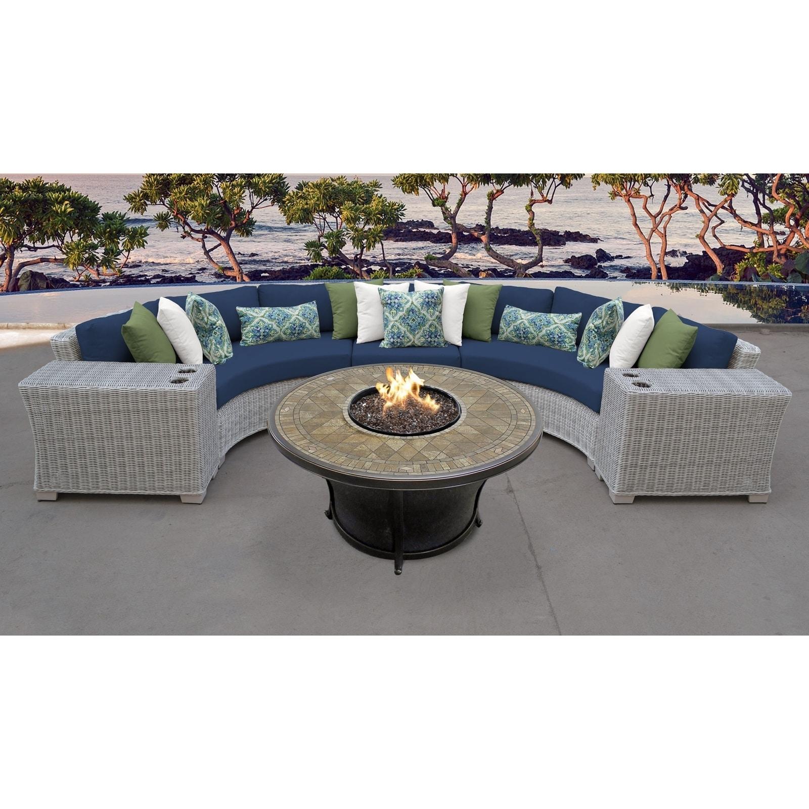 Coast 6 piece outdoor wicker patio furniture set 06a