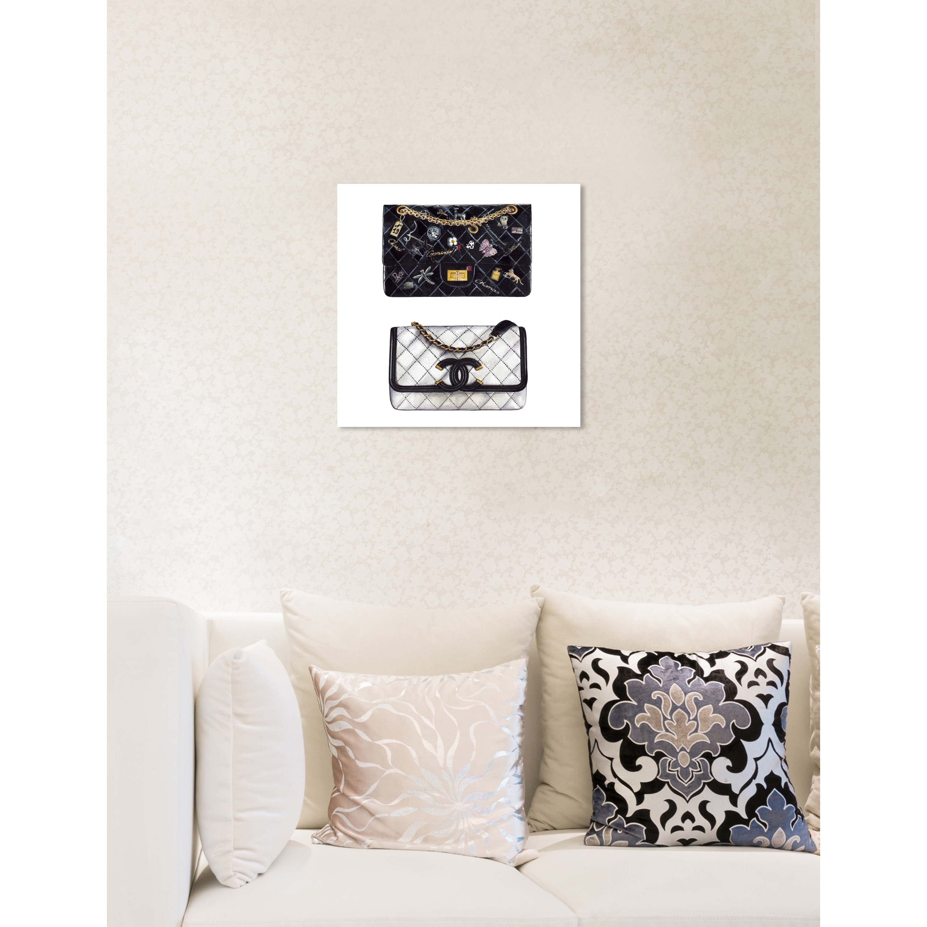 Shop Oliver Gal 'Doll Memories - Iconic Boy Bag SQUARE' Fashion Wall Art  Print on Premium Canvas - Black - On Sale - Free Shipping Today -  Overstock.com - ...
