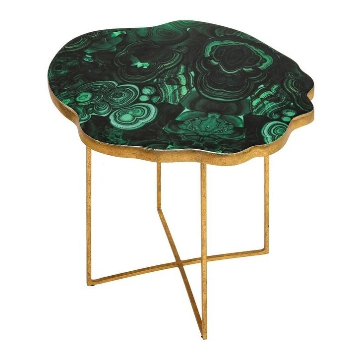 Shop Lily Agate Side Table   Free Shipping Today   Overstock.com   23620937