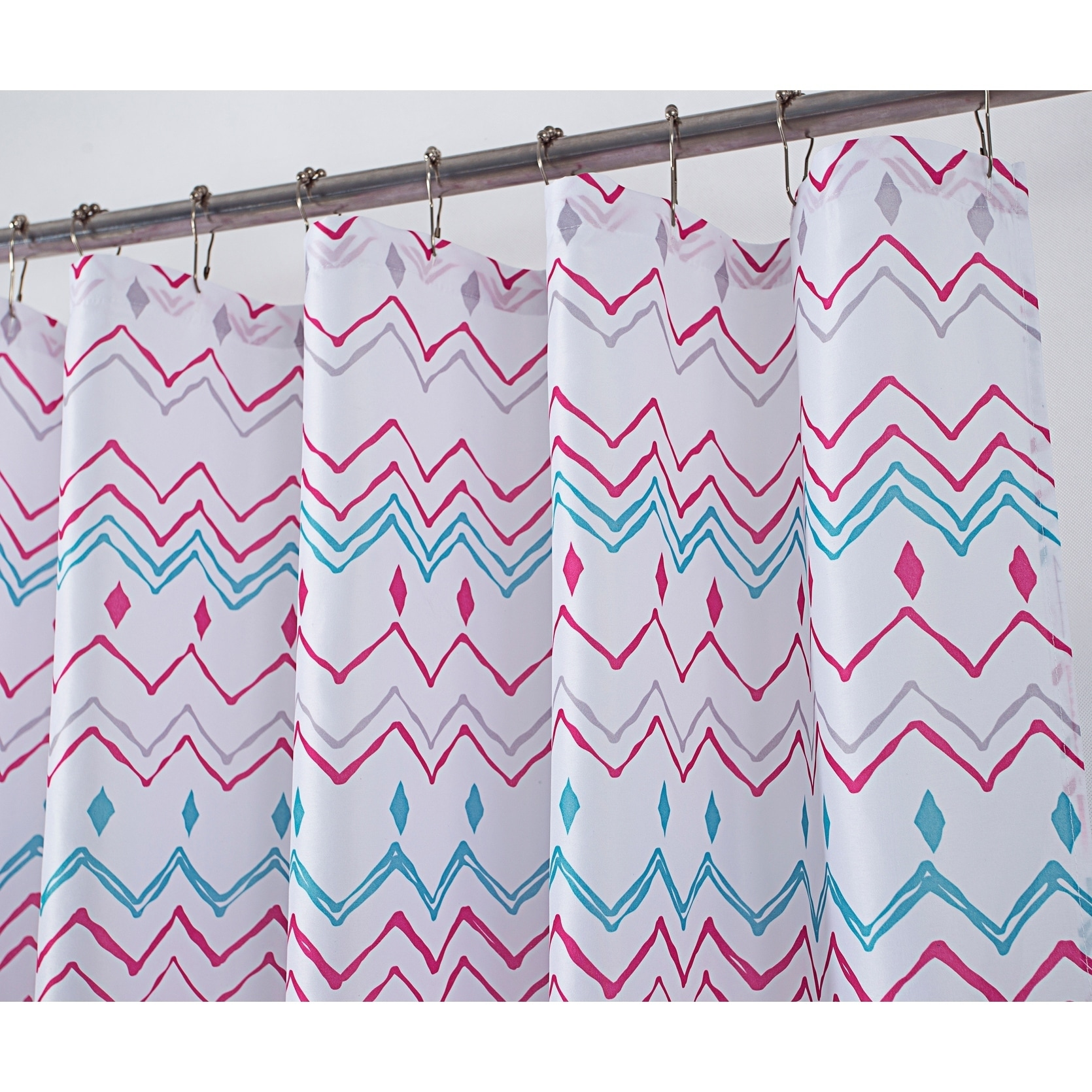 Shop Classic Chevron 70 X 72 In Printed Shower Curtain