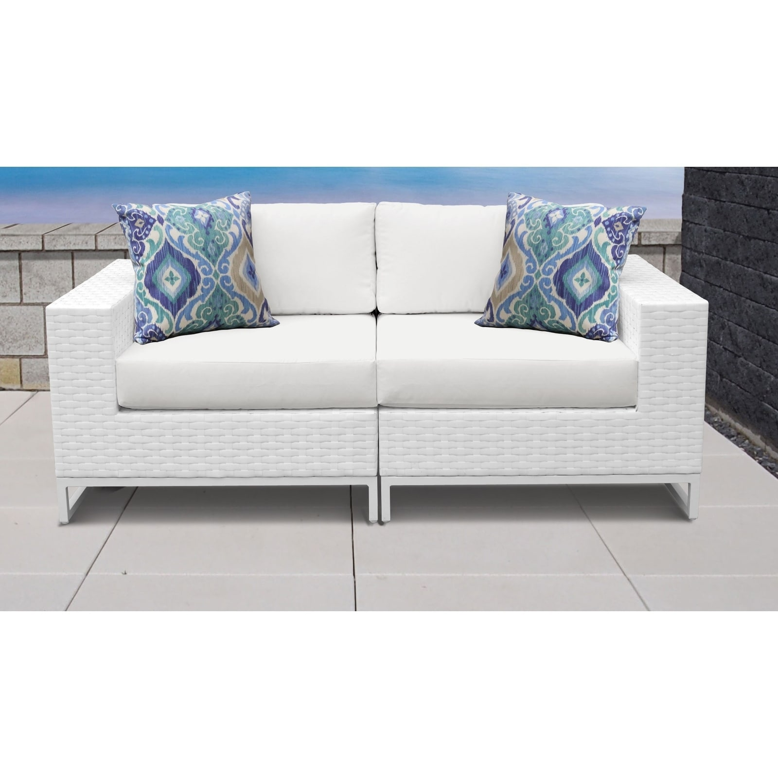 Shop Miami 2 Piece Outdoor Wicker Patio Furniture Set 02a Free