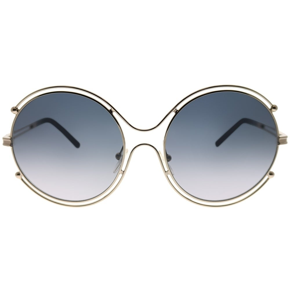 6e1bc8301652 Shop Chloe Round CE 122S Isidora 744 Women Light Gold Frame Grey Gradient  Lens Sunglasses - Free Shipping Today - Overstock - 23624931