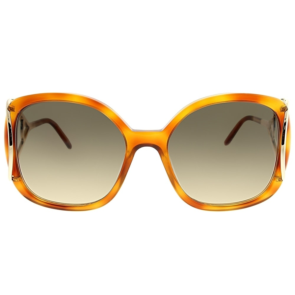 a49b4b965a66 Shop Chloe Square CE 702S Jackson 725 Women Blonde Havana Frame Brown  Gradient Lens Sunglasses - Free Shipping Today - Overstock - 23624935