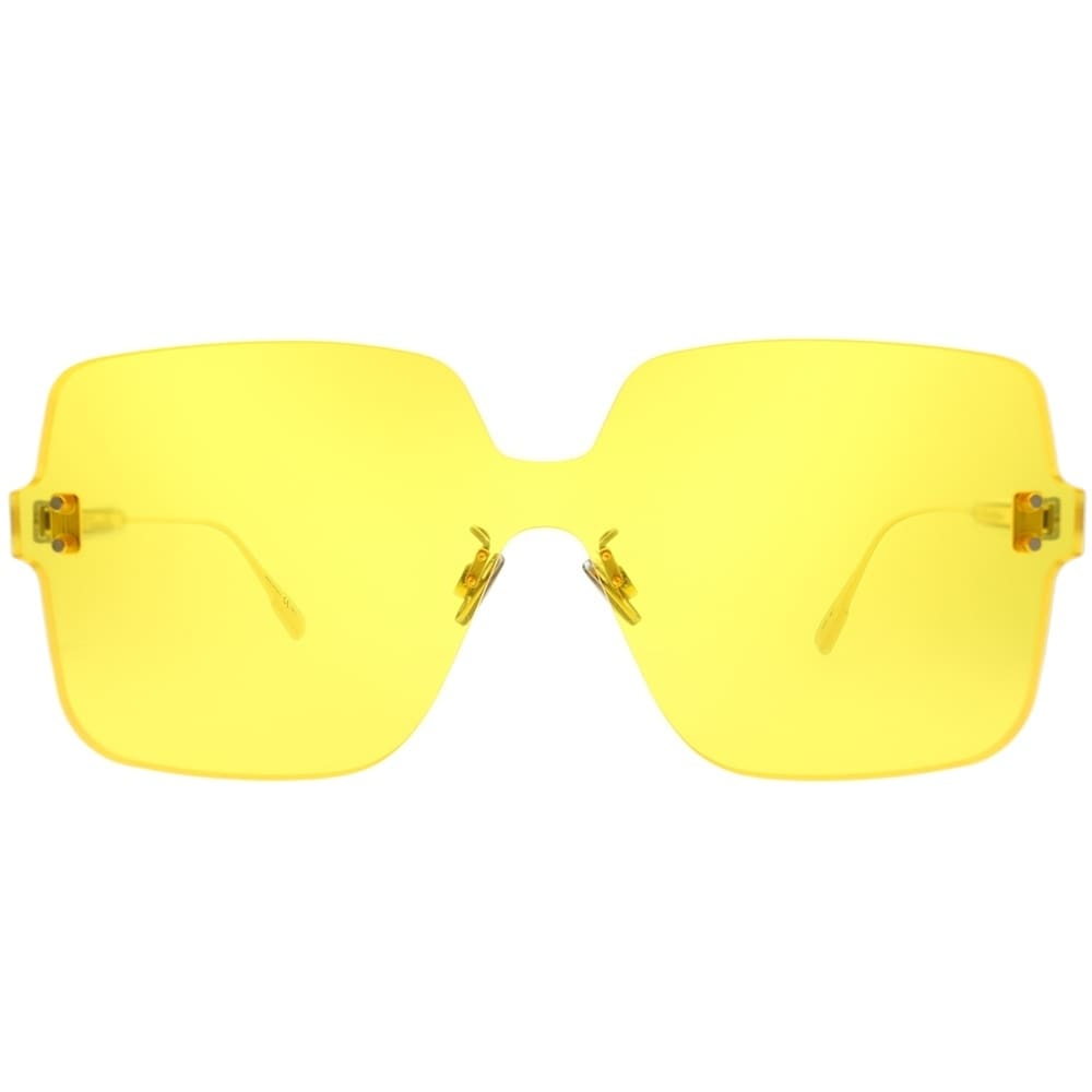 62d4c884406fd Shop Dior Square Dior Color Quake 1 40G HO Women Yellow Frame Yellow Lens  Sunglasses - Free Shipping Today - Overstock - 23624946