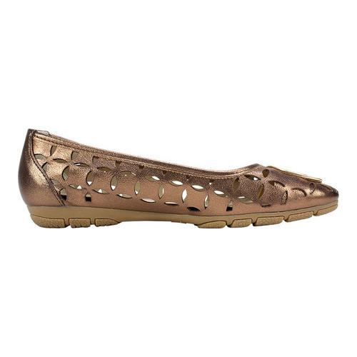 Free Shipping Shop For Rialto Genessa Flat(Women's) -Pewter Metallic Polyurethane For Sale Buy Authentic Online qchFCG2QrL
