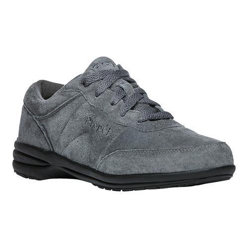 92c99569f863 Shop Women s Propet Washable Walker Slip-Resistant Sneaker Pewter Suede - Free  Shipping Today - Overstock.com - 20371038