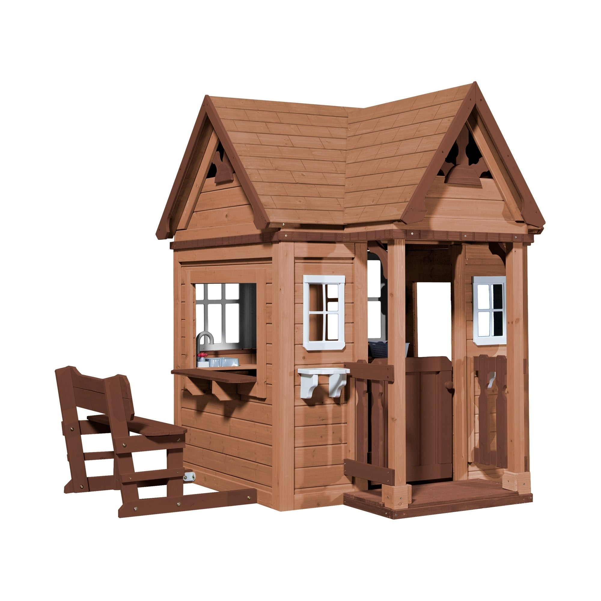 Backyard Discovery Pembrook Outdoor Wooden Playhouse