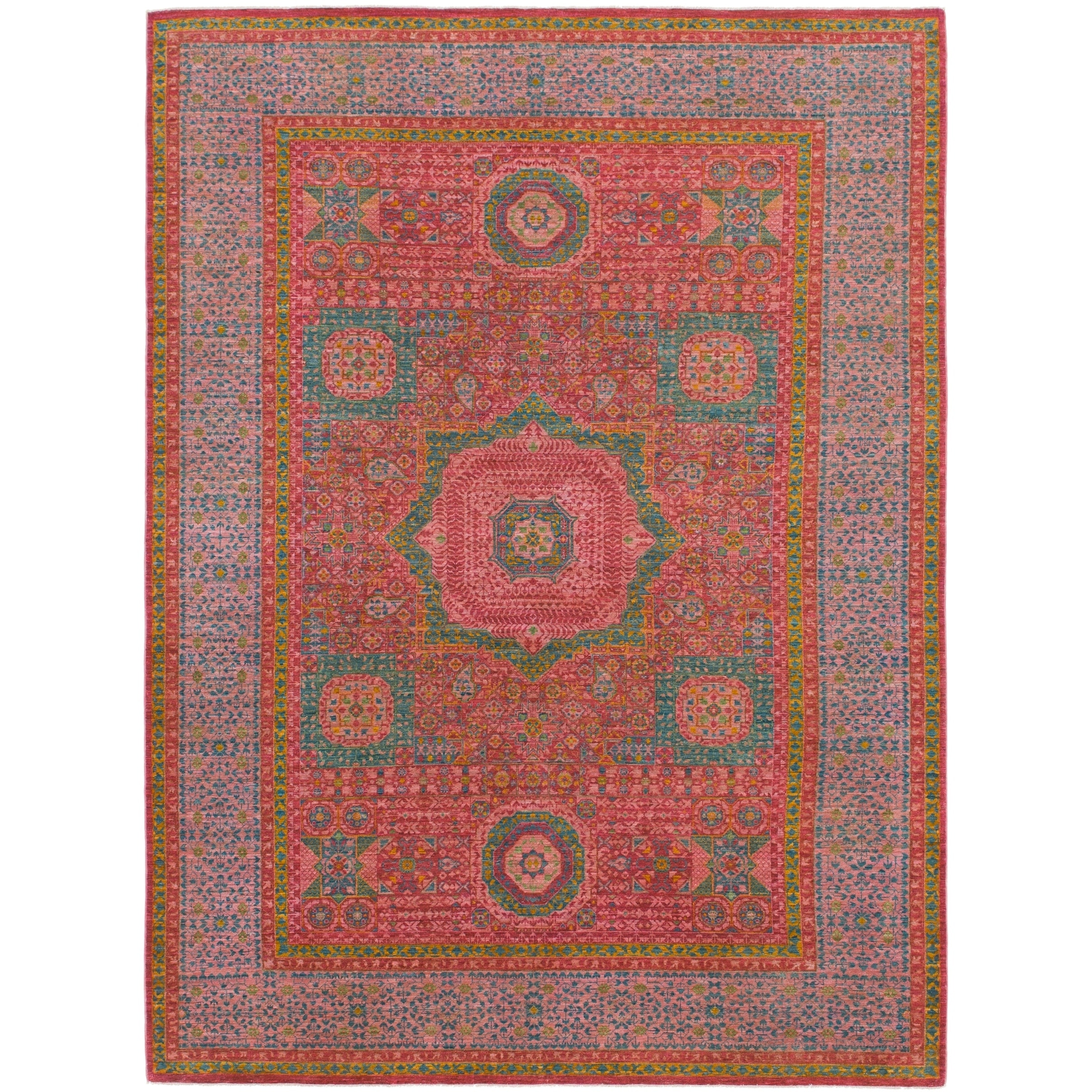 Shop Hand Knotted Mamluk Wool Area Rug 7 X 9 7 On Sale Free