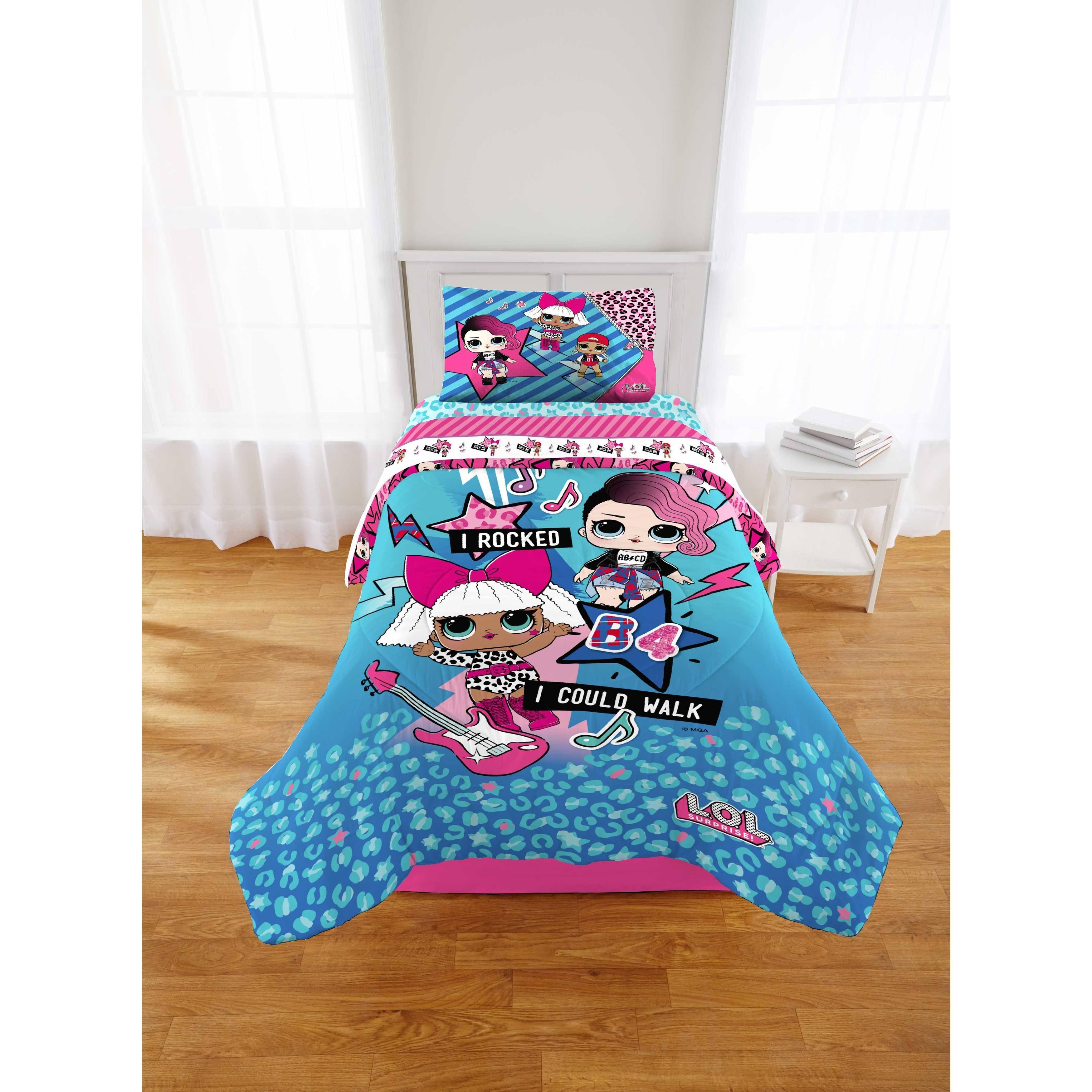 LOL Surprise Born Rockers 4 Piece Full Size Microfiber Sheet Set