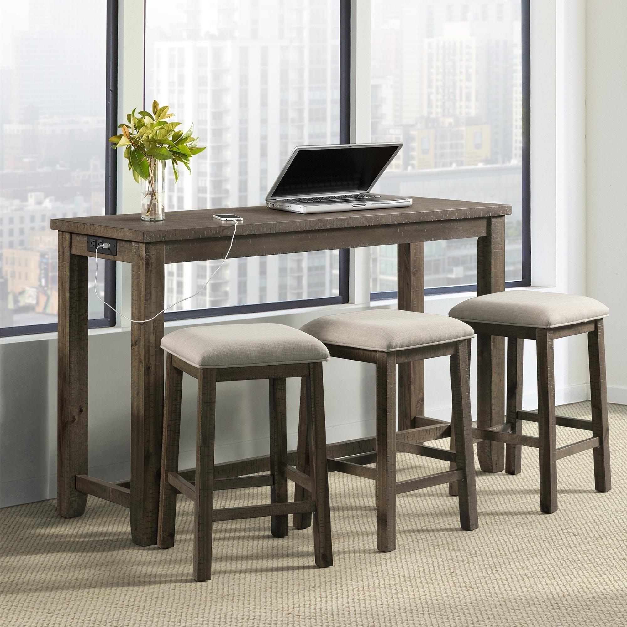 Ordinaire Picket House Furnishings Stanford Multipurpose Bar Table Set