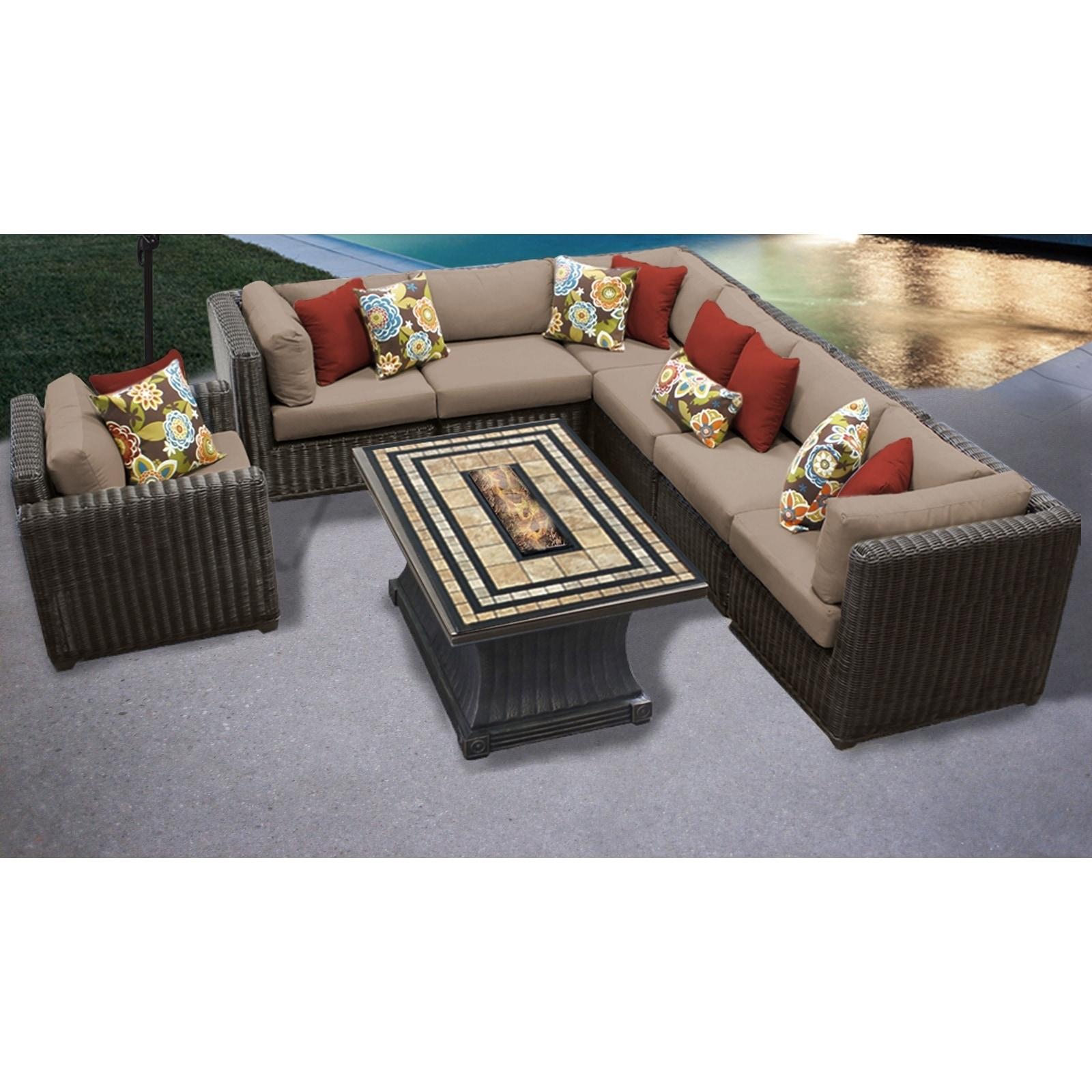 Venice 8 Piece Outdoor Wicker Patio Furniture Set 08e Free Shipping Today 24017917