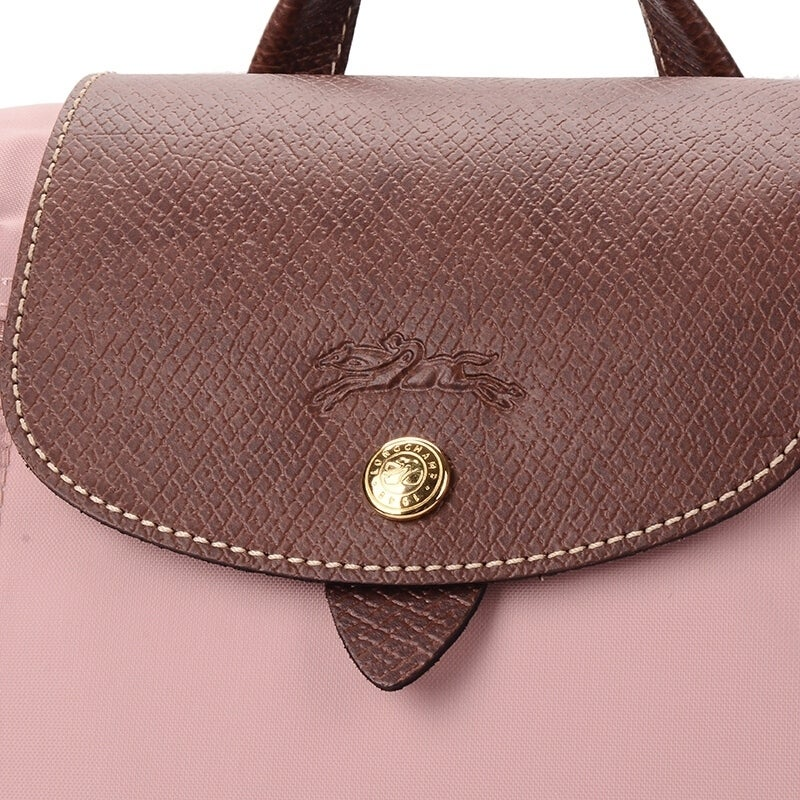 30602b93c0d7 Shop Longchamp Le Pliage Nylon and Leather Backpack ROSADO - Free Shipping  Today - Overstock - 24031443