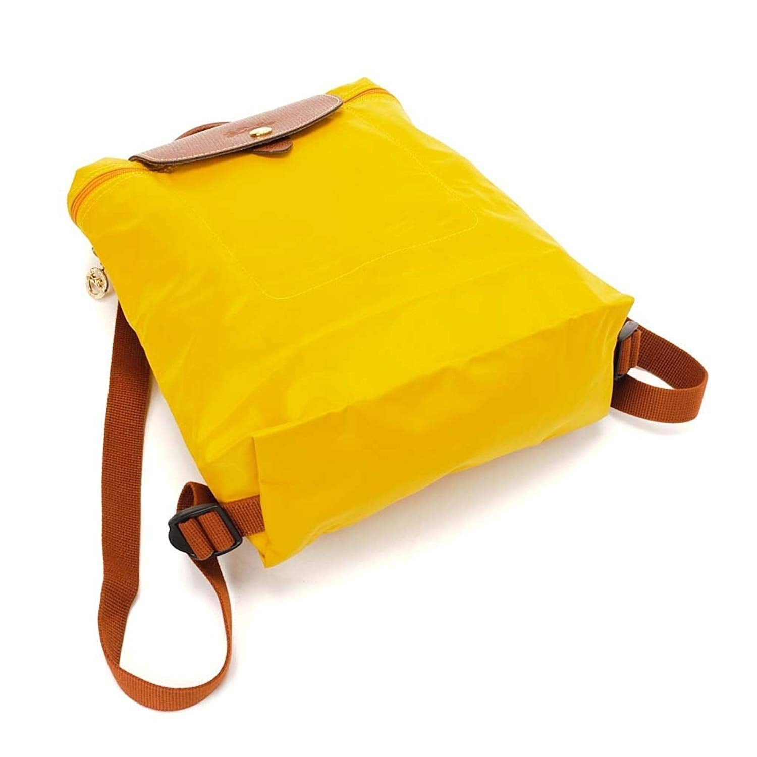 8e5c60f7d163 Shop Longchamp Le Pliage Nylon and Leather Backpack AMARILLO - Free  Shipping Today - Overstock - 24031601
