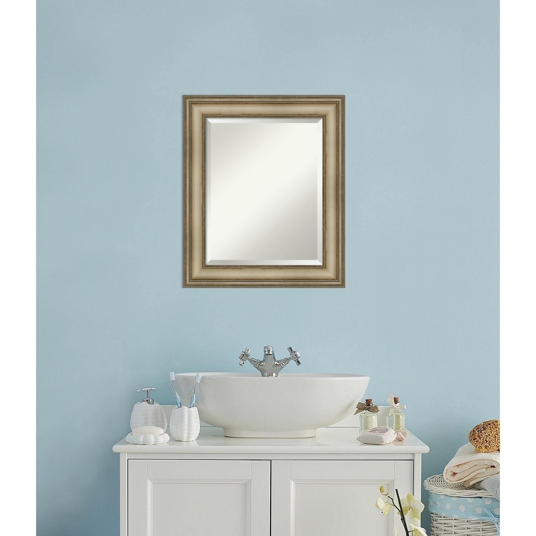 Shop Bathroom Mirror, Mezzanine Antique Silver Narrow - Free ...