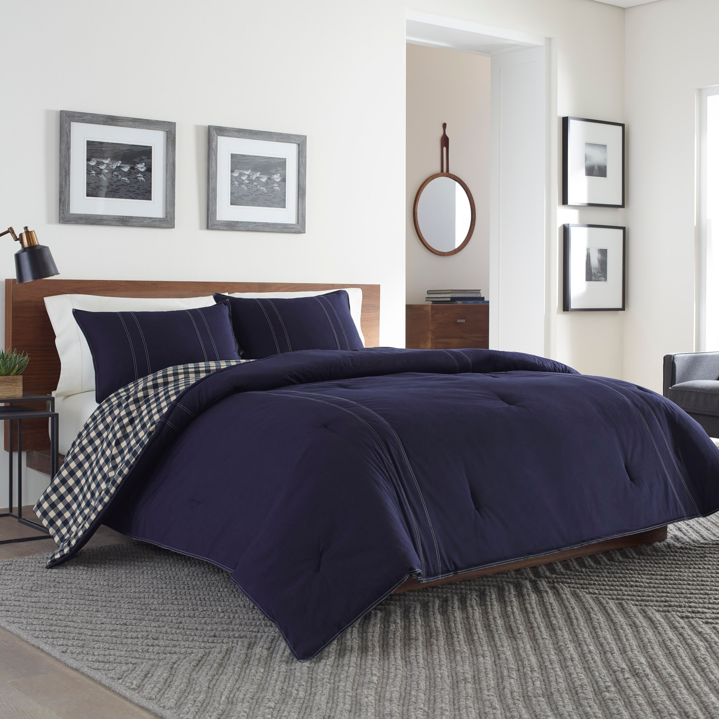 Shop eddie bauer kingston navy duvet cover set on sale free shipping today overstock com 24037250