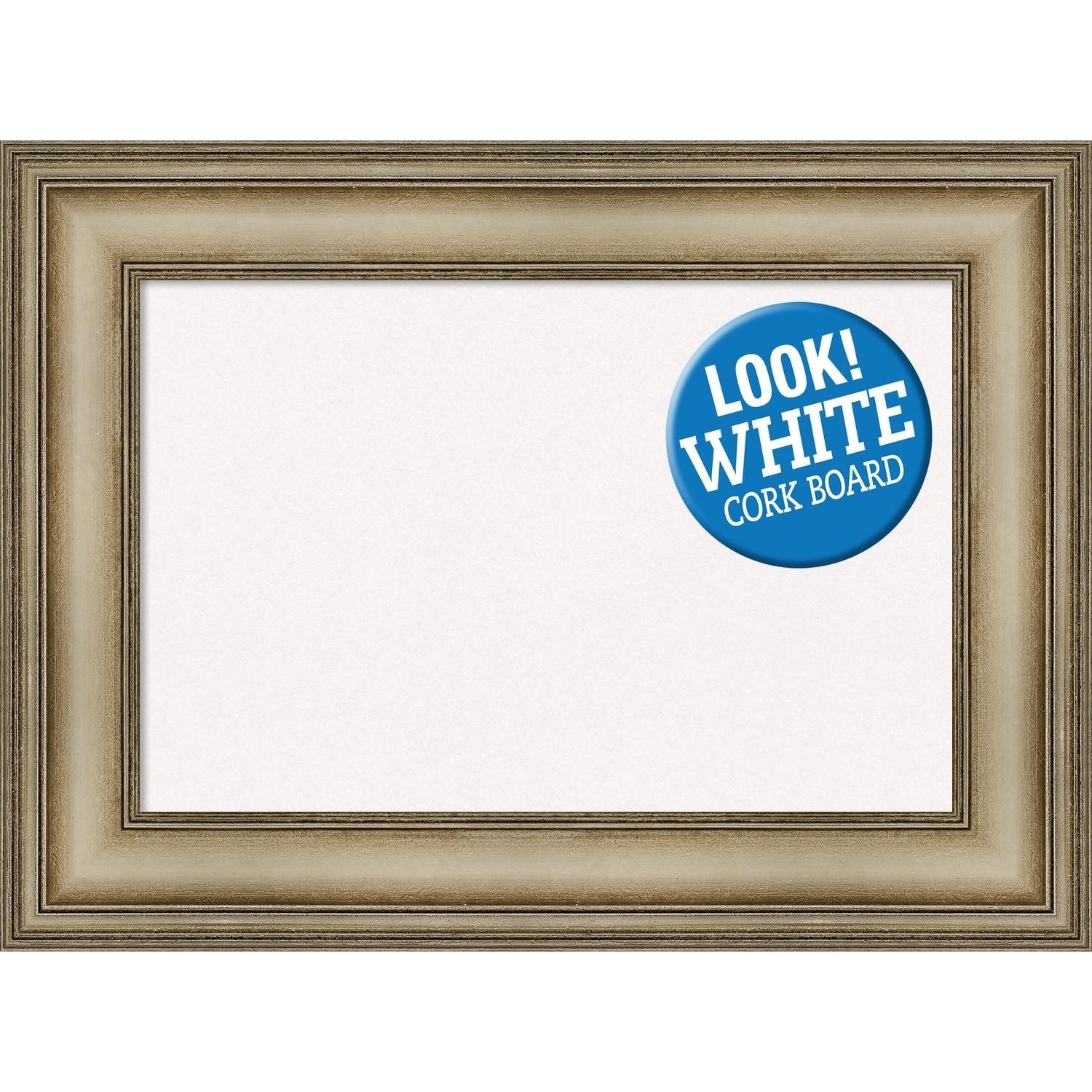Shop Framed White Cork Board, Mezzanine Antique Silver Narrow - Free ...