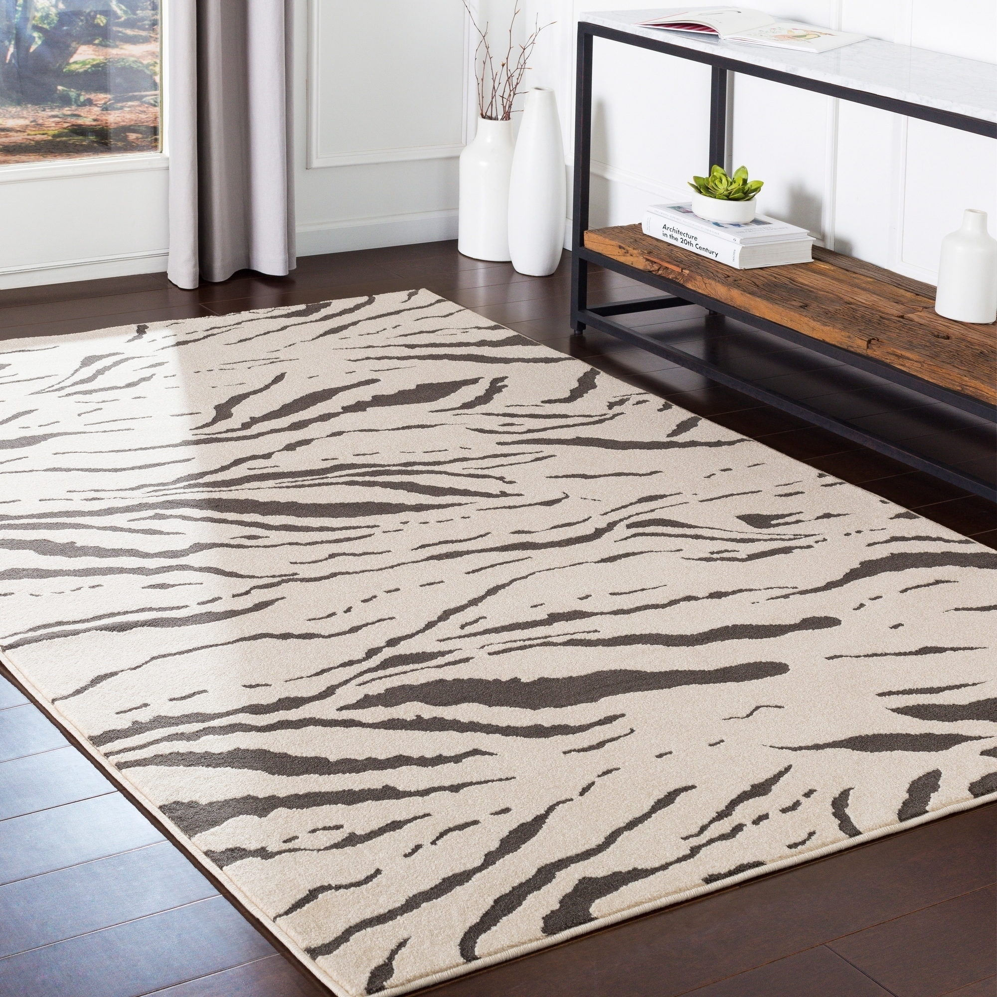 Anton Grey Modern Animal Print Accent Rug 2 X 3 On Free Shipping Today Com 24045226