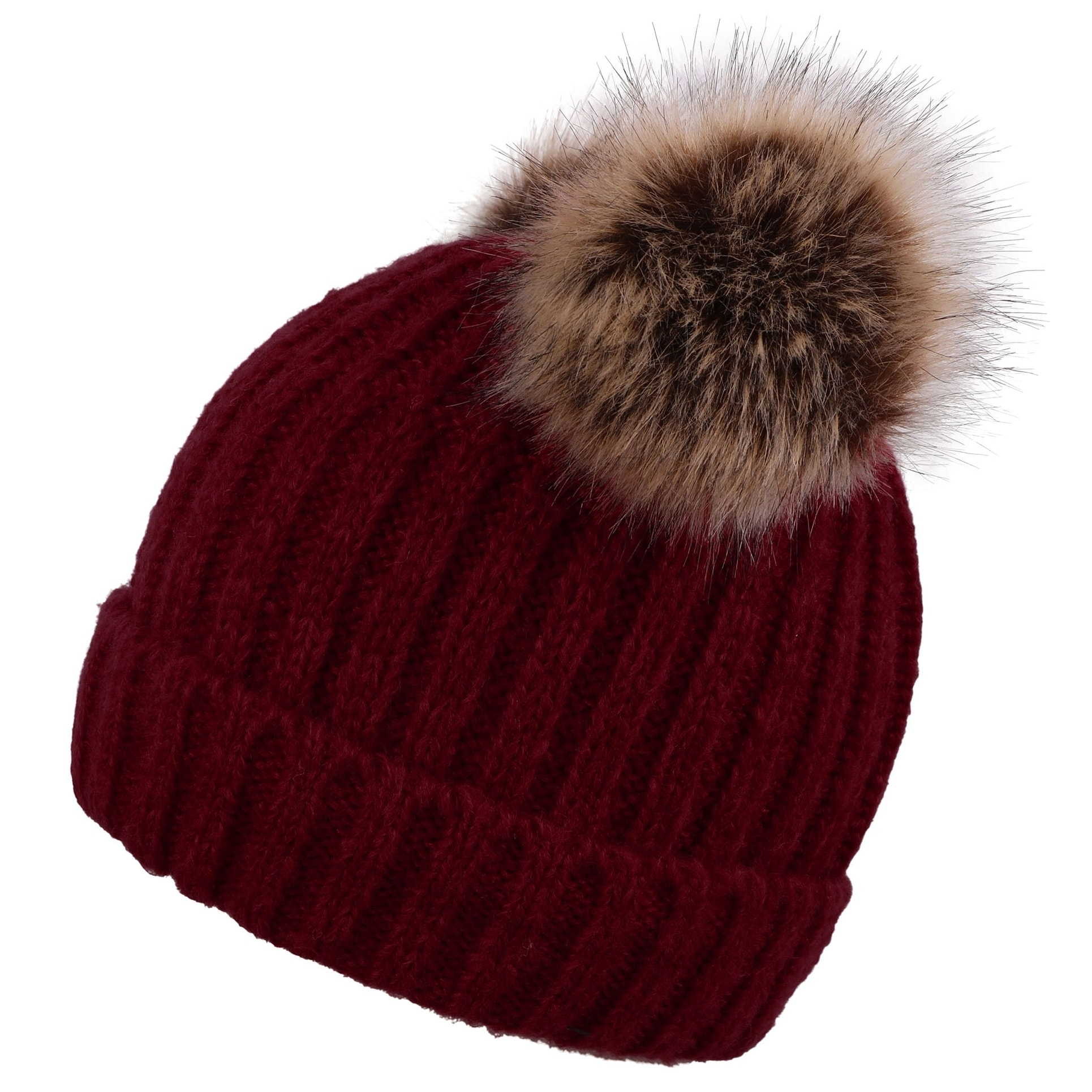 57517f7cc35ed2 Shop Men & Women's Cable Knit Beanie with Faux Fur Pompom Ears - On Sale - Free  Shipping On Orders Over $45 - Overstock - 24072260