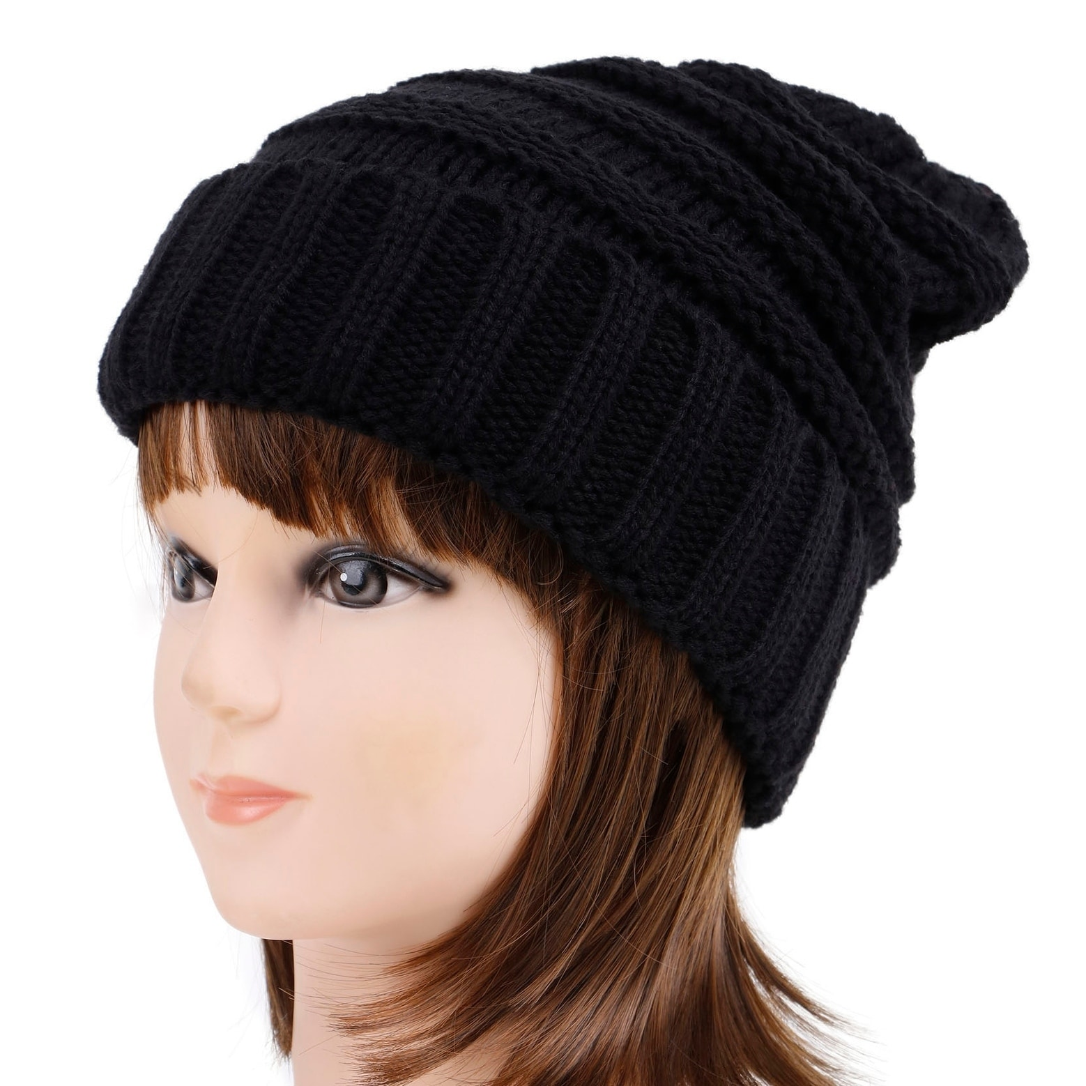 044c4bf8c09 Shop Men   Women s Chunky Soft Knitted Warm Winter Beanie Hat - Free  Shipping On Orders Over  45 - Overstock.com - 24072282