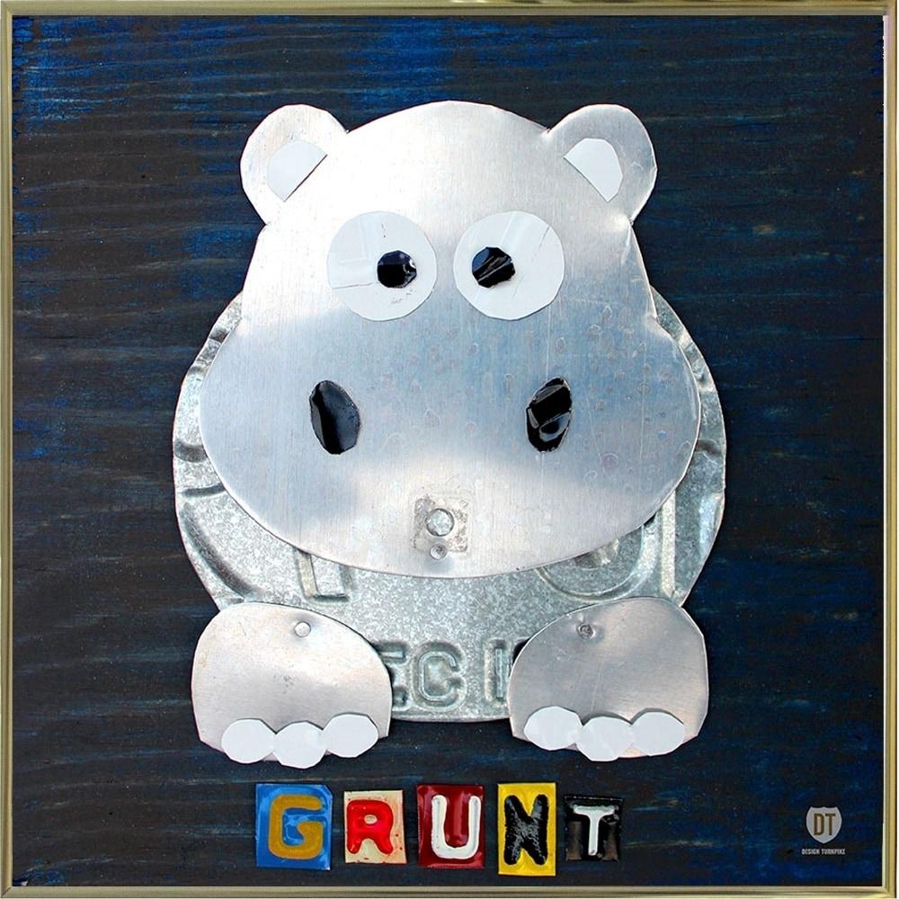 Shop grunt the hippo-DAVBOW112175 Print 12\