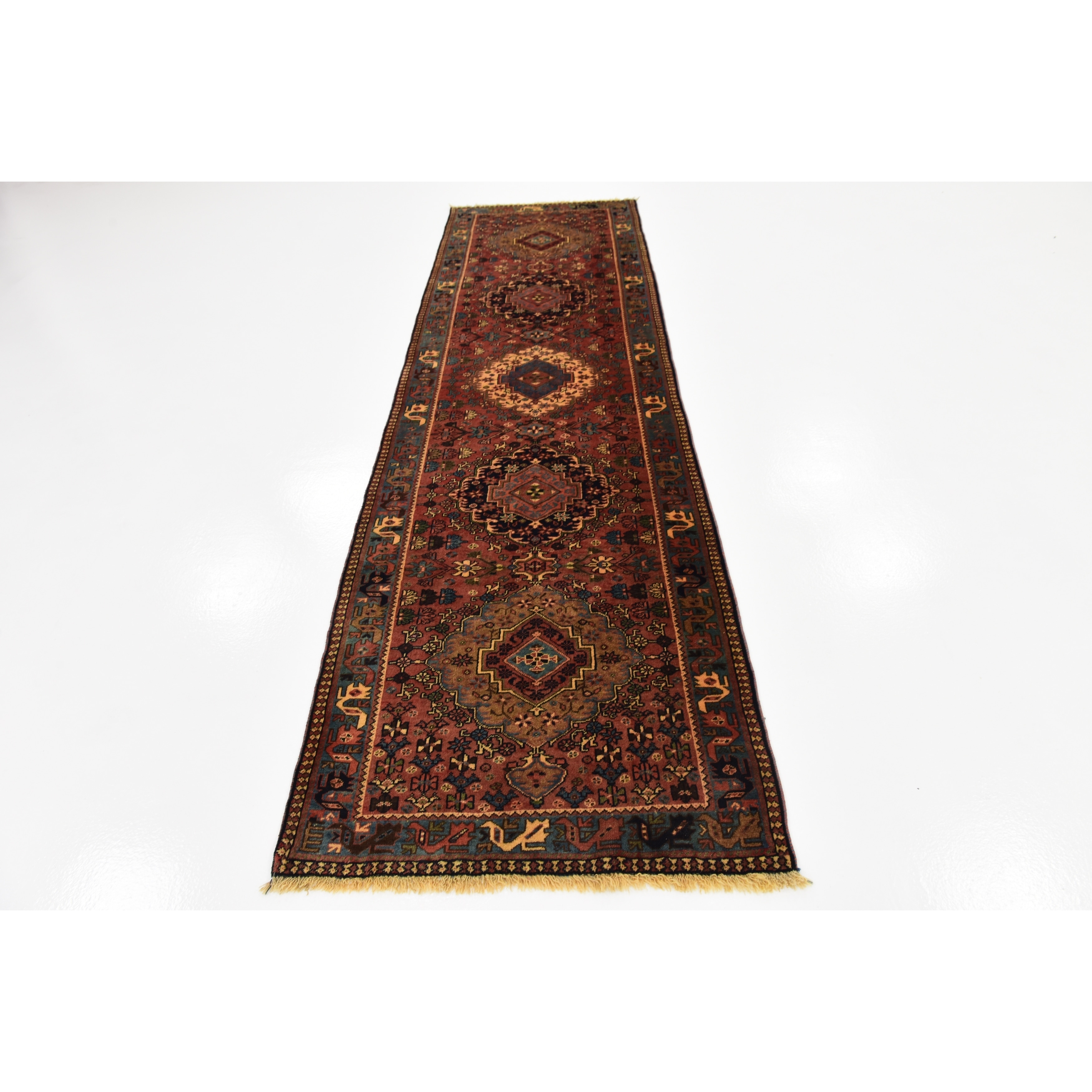 Shop Hand Knotted Yalameh Wool Runner Rug - 2' 10 x 10' 2 - On Sale - Free Shipping Today - Overstock.com - 24100530
